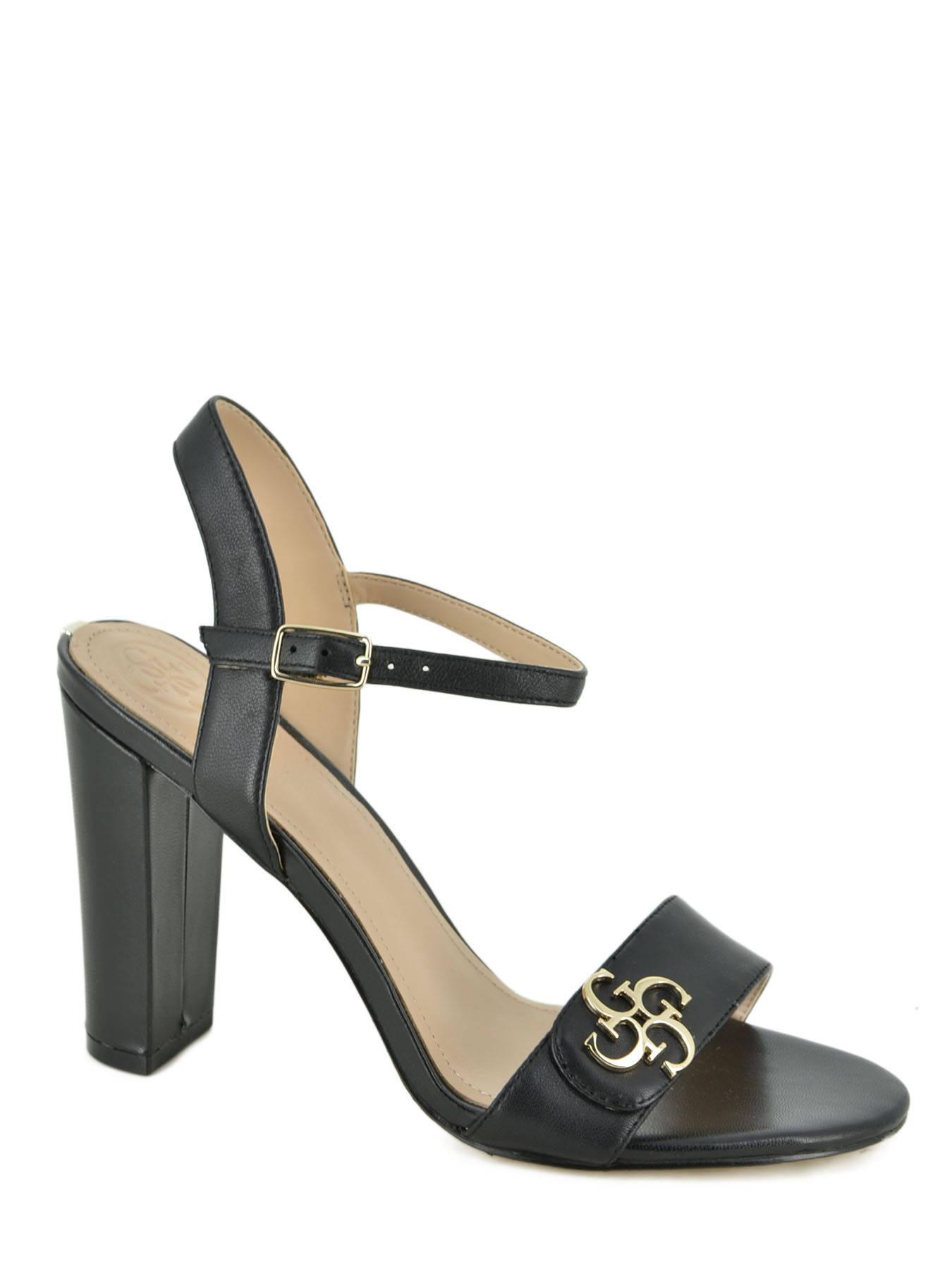 cd89c02ec901 Sandales nu-pieds Guess AMIYAH black en vente au meilleur prix