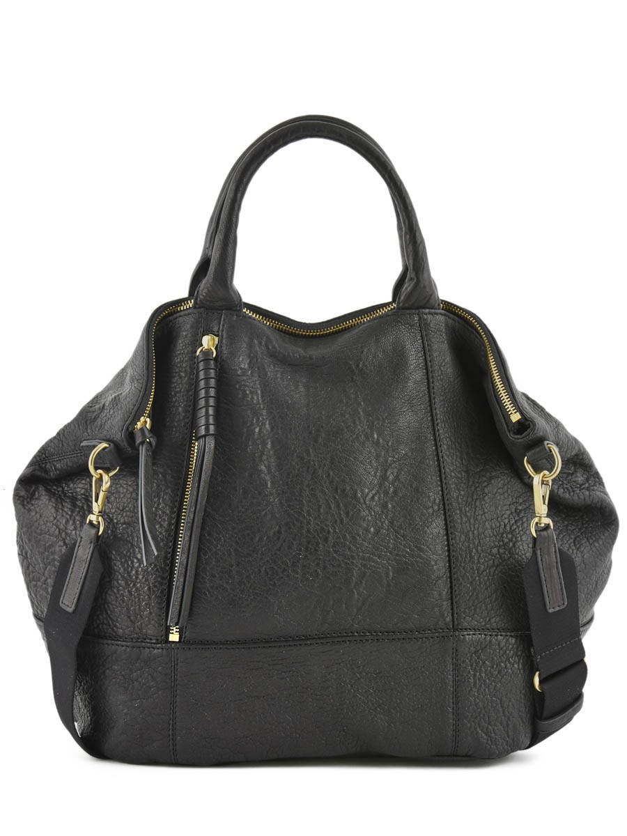 8dfe1539ff98a ... Top Handle Only You Leather Gerard darel Black bubble DGS30430 ...