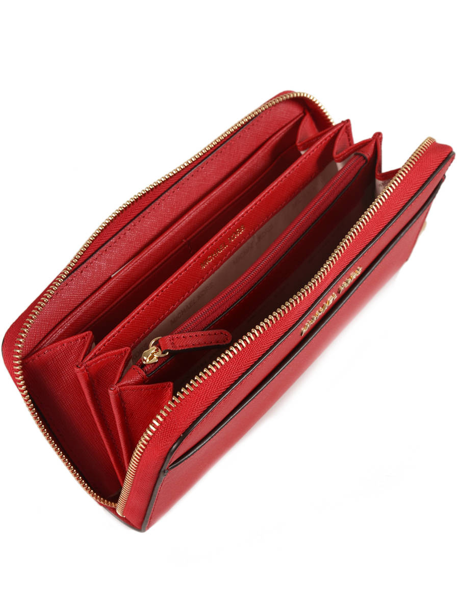0eb91bf7c098 ... Wallet Leather Michael kors Red money pieces T7GTVZ3L other view 1 ...