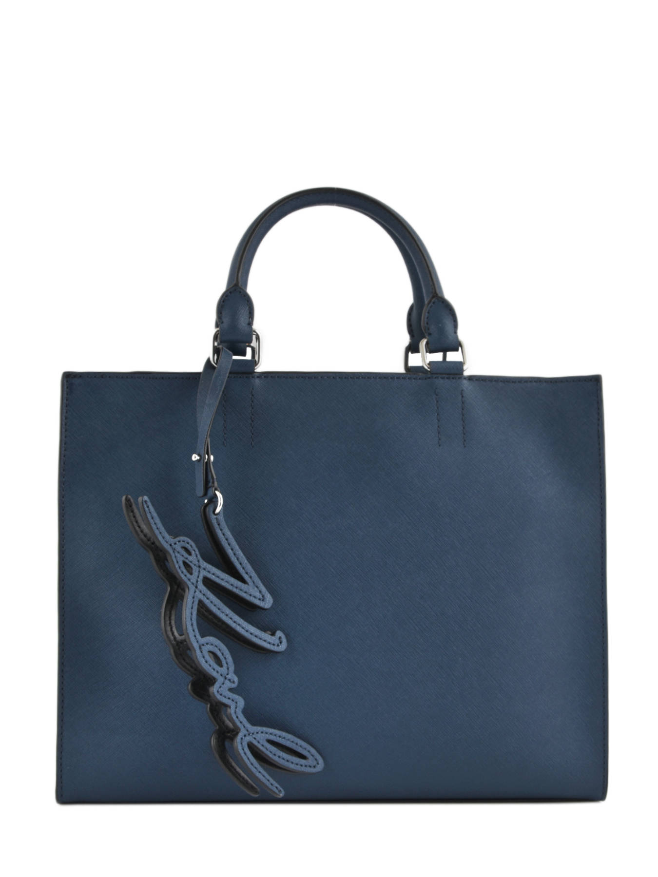 Ping Bag K Signature Essential Leather Karl Lagerfeld Blue 81kw3051