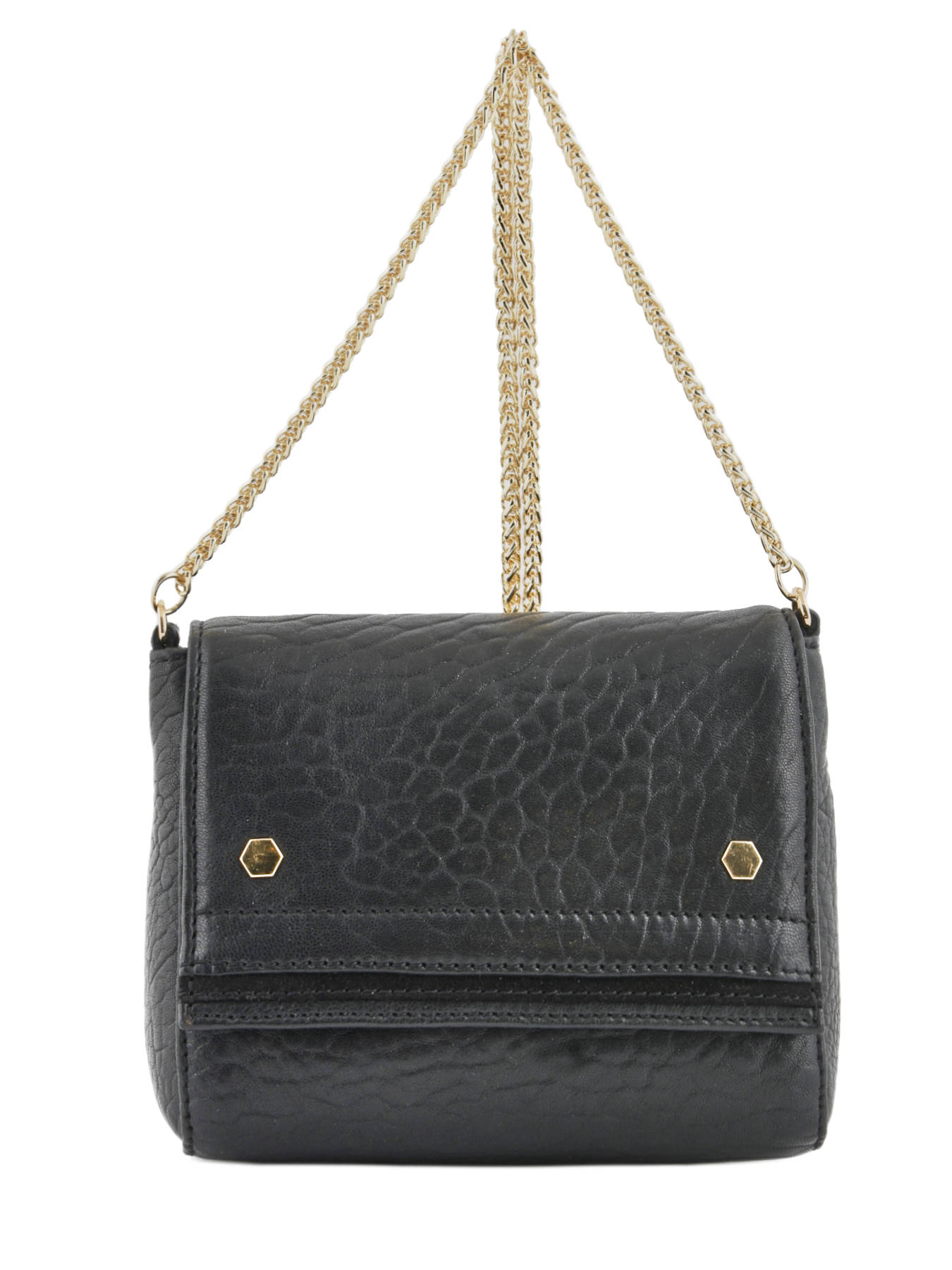 85e0e172456c ... Crossbody Bag Strawberry Leather Petite mendigote Black strawberry  CLERY ...