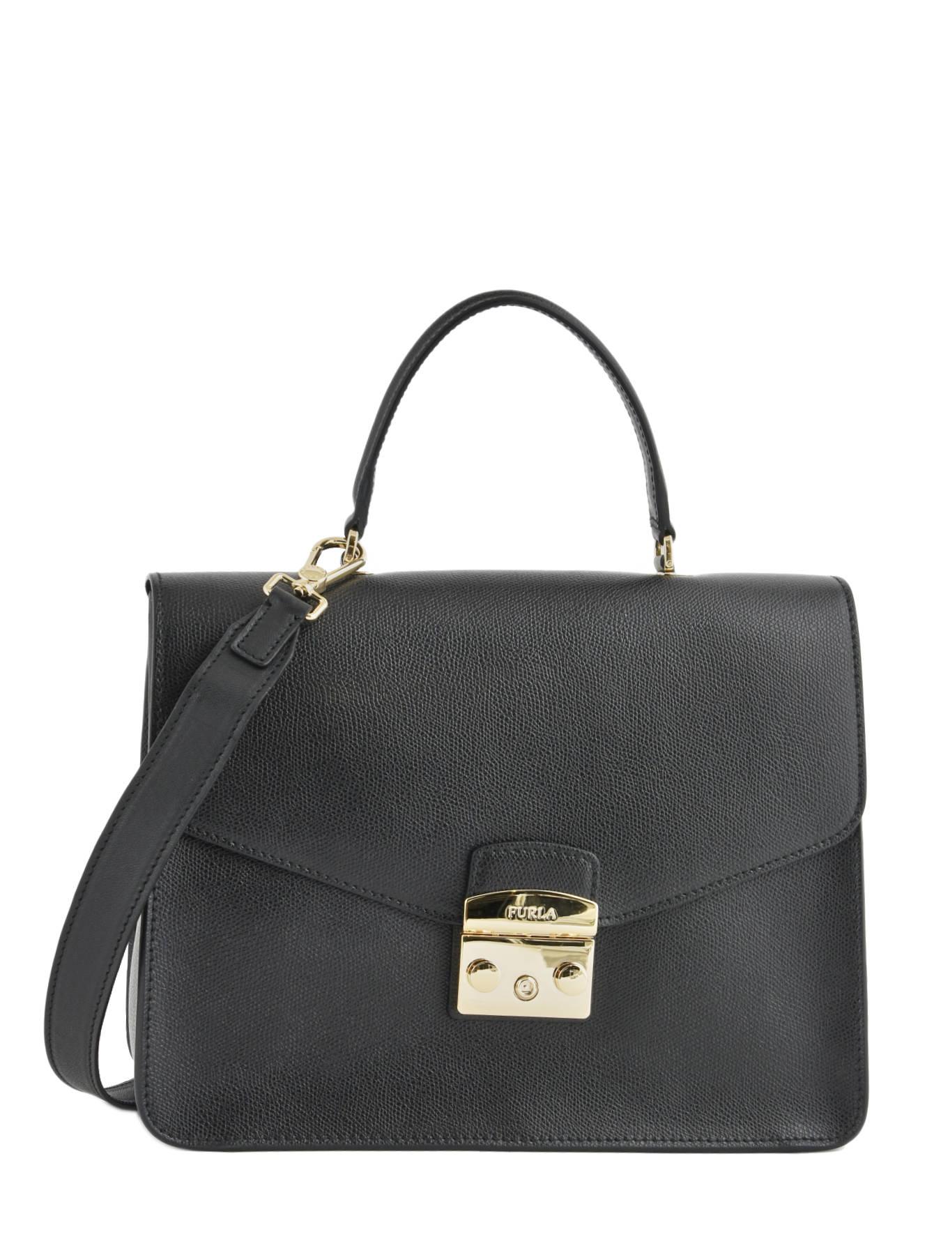 aae275111d36 ... Top Handle L Metropolis Leather Furla Black metropolis EP0-BOO9 ...