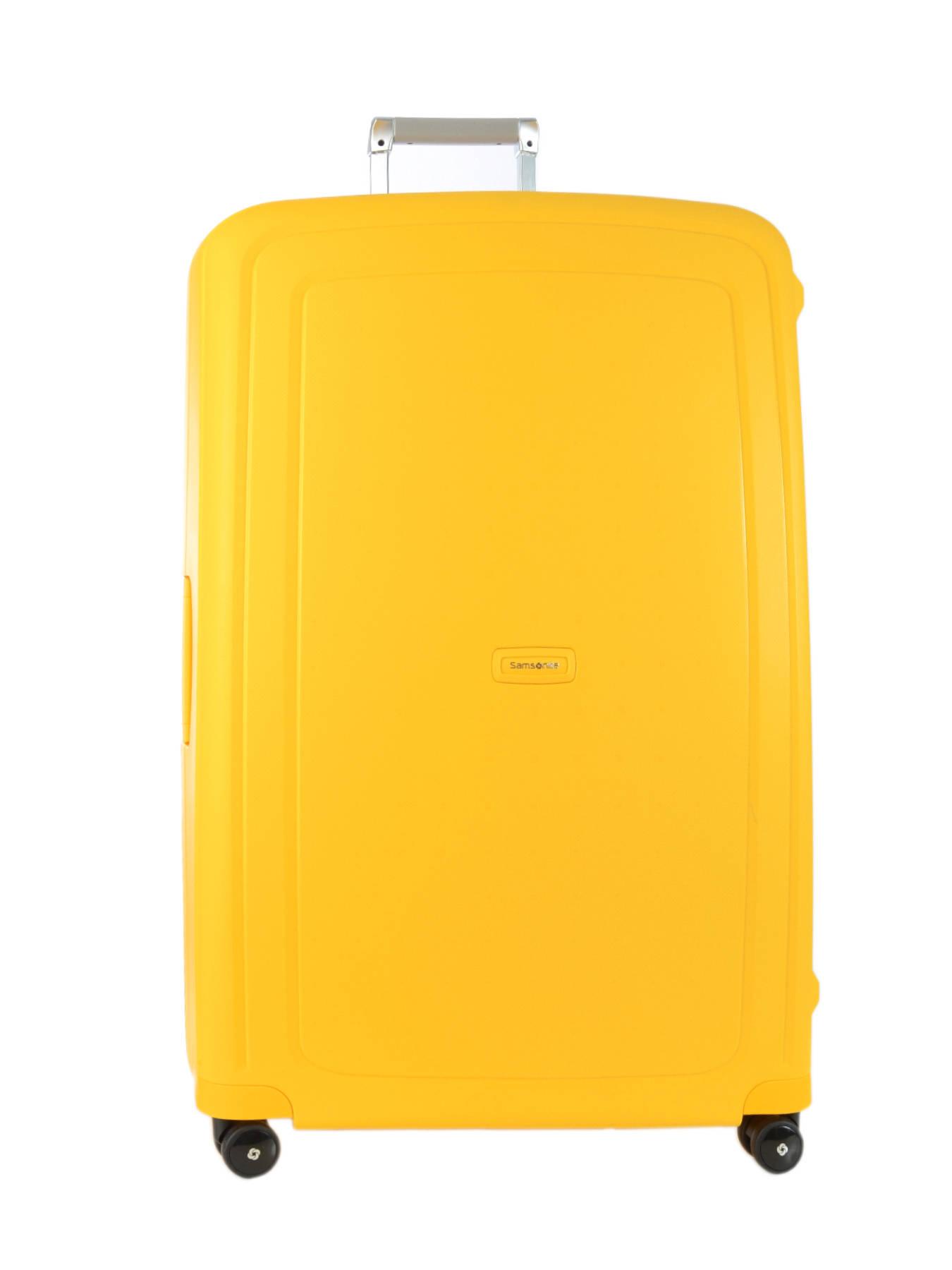 valise rigide samsonite s 39 cure yellow en vente au meilleur prix. Black Bedroom Furniture Sets. Home Design Ideas