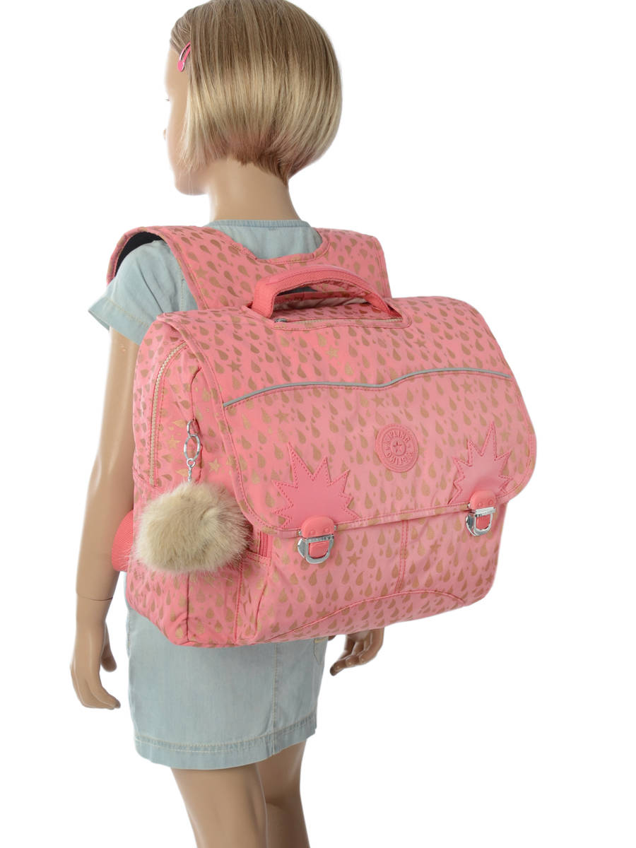 50a5cb1f90 ... Satchel 2 Compartments Kipling Pink back to school 21092 other view 3  ...