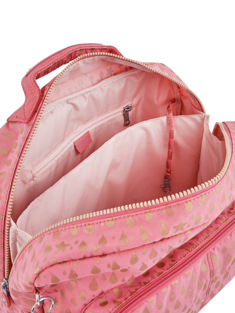 8321b7469a Satchel 2 Compartments Kipling Pink back to school 21092 other view 6