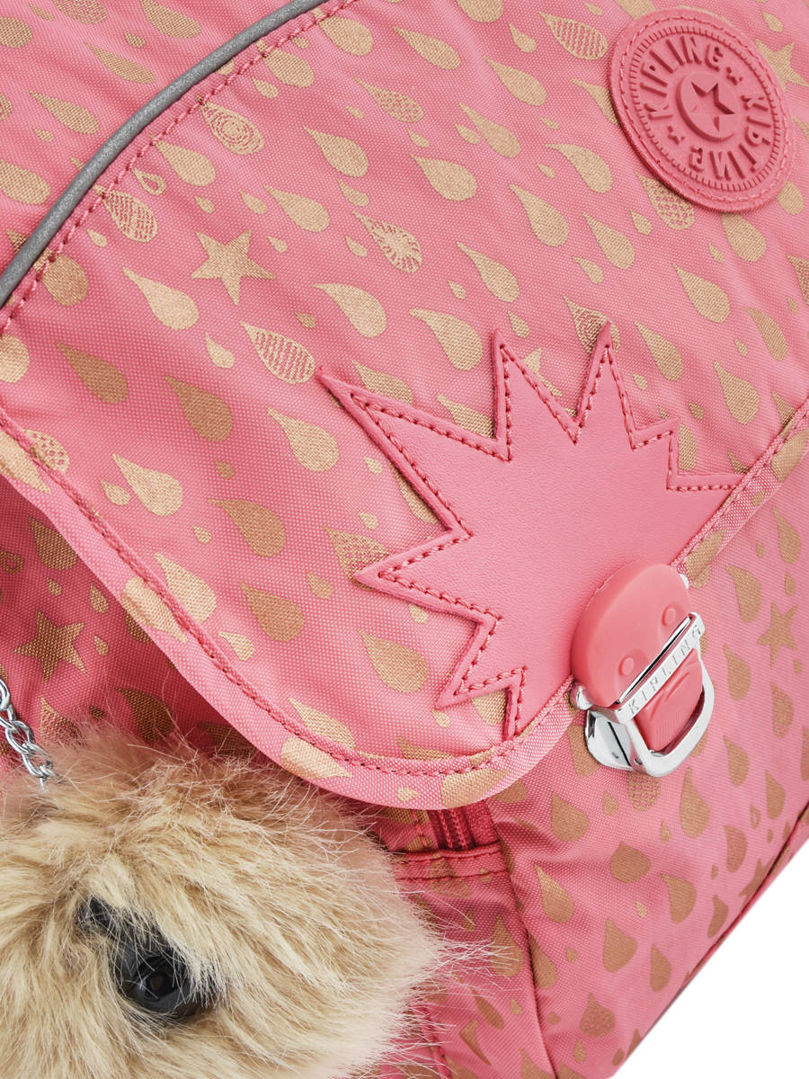 5e2b094d5e ... Satchel 2 Compartments Kipling Pink back to school 21092 other view 1  ...