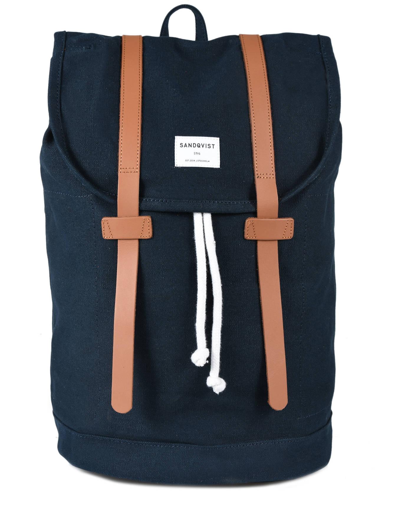 ... Backpack Stig Large A4 + 15   Pc Sandqvist Blue stig STIG-L ... 7bc02c5839