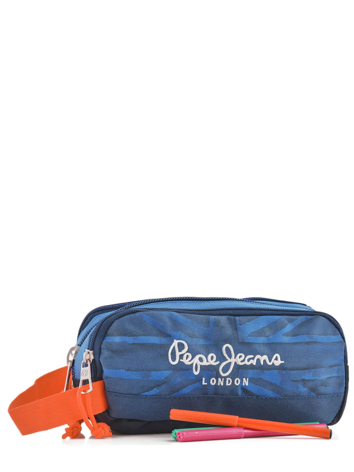 c25fabc906e ... Trousse 3 Compartiments Pepe jeans Bleu fabio 60947 vue secondaire 1 ...