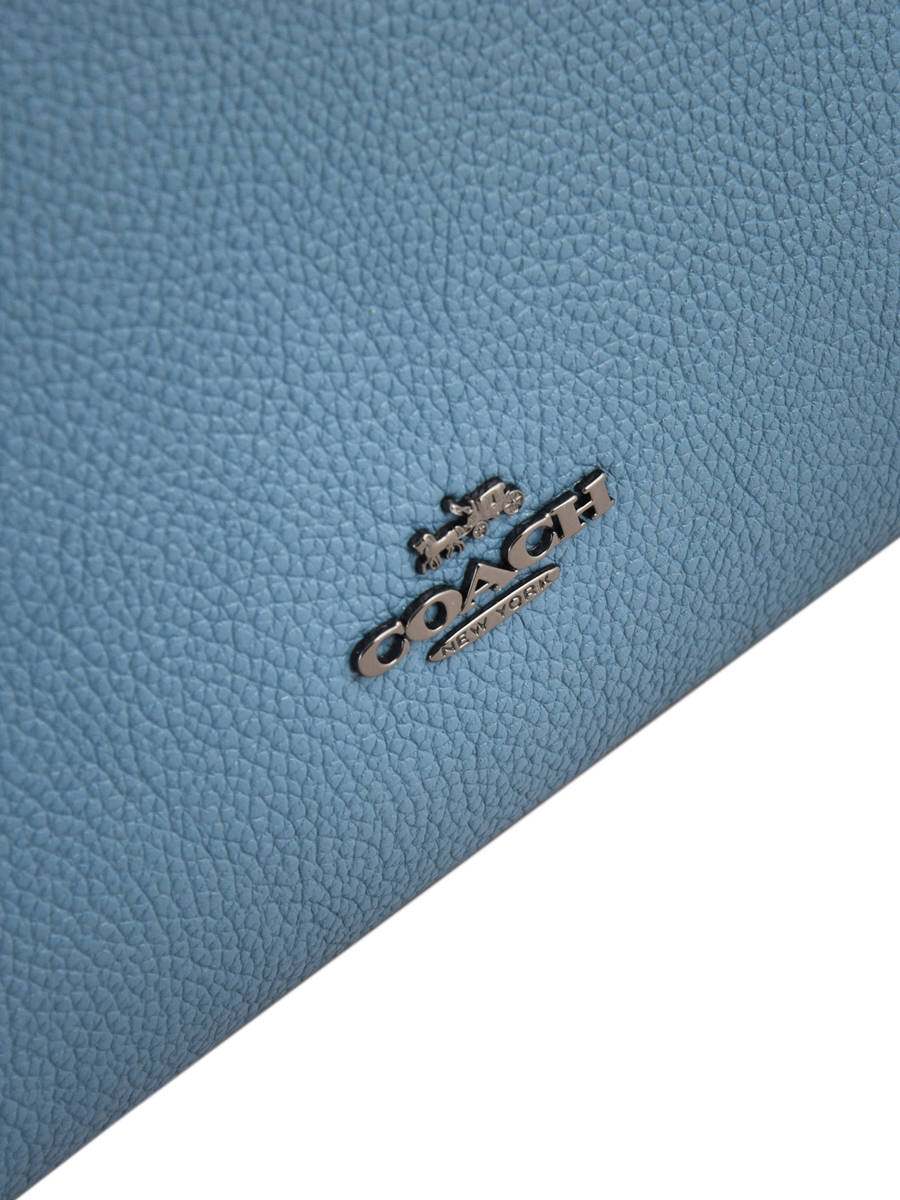 242abe3a03 ... 1  Shoulder Bag Clarkson Hobo Leather Coach Blue clarkson hobo 24947  other view 2 ...