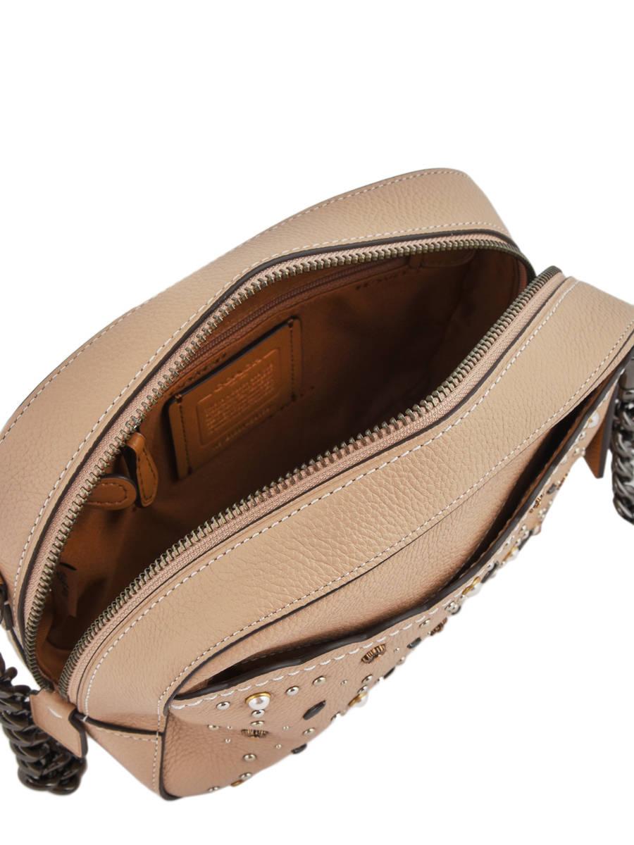 6b5a94182e97 Crossbody Bag Camera Bag Leather Coach Beige camera bag 29329 other view 5  ...