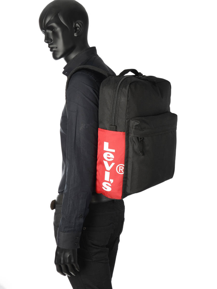 53b8ba1c7 ... Backpack 1 Compartment + 15'' Pc Levi's Black l1 228916 other view 2 ...
