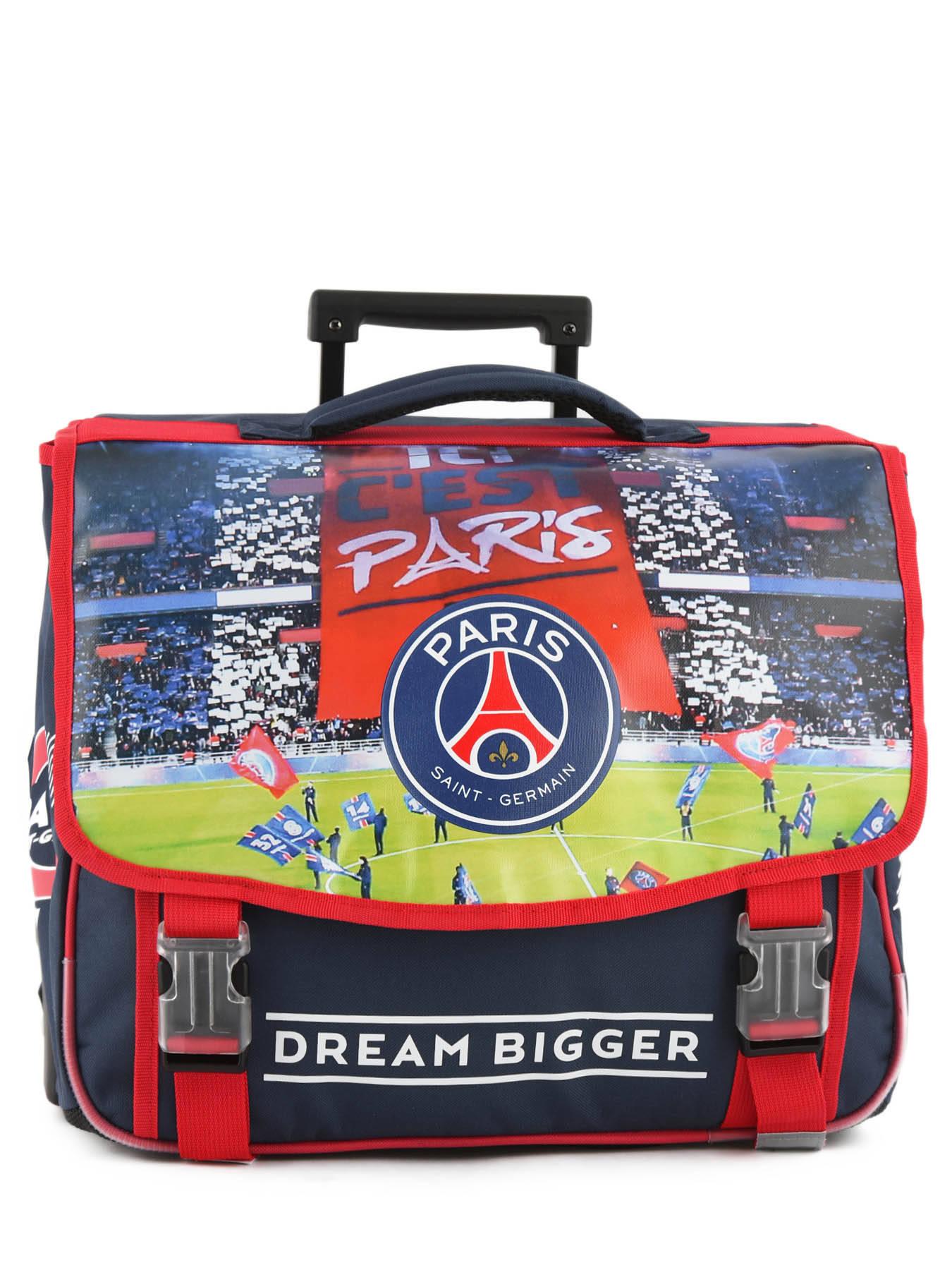 e72a59eafe ... Wheeled Schoolbag 2 Compartments Paris st germain Black ici c'est paris  173P203R ...