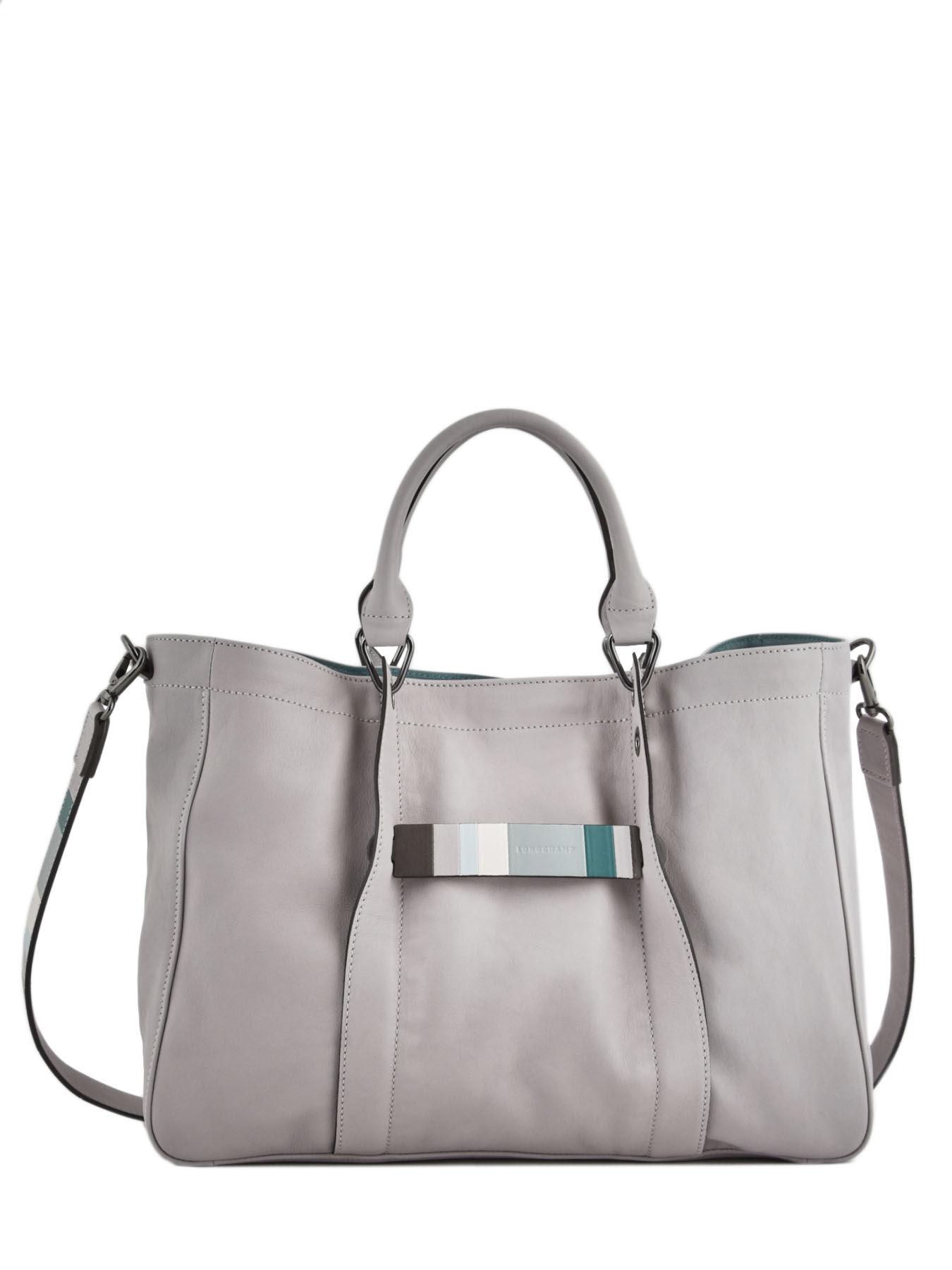 3a85251f96e ... Longchamp Longchamp 3d gÉomÉtrique Handbag Gray ...