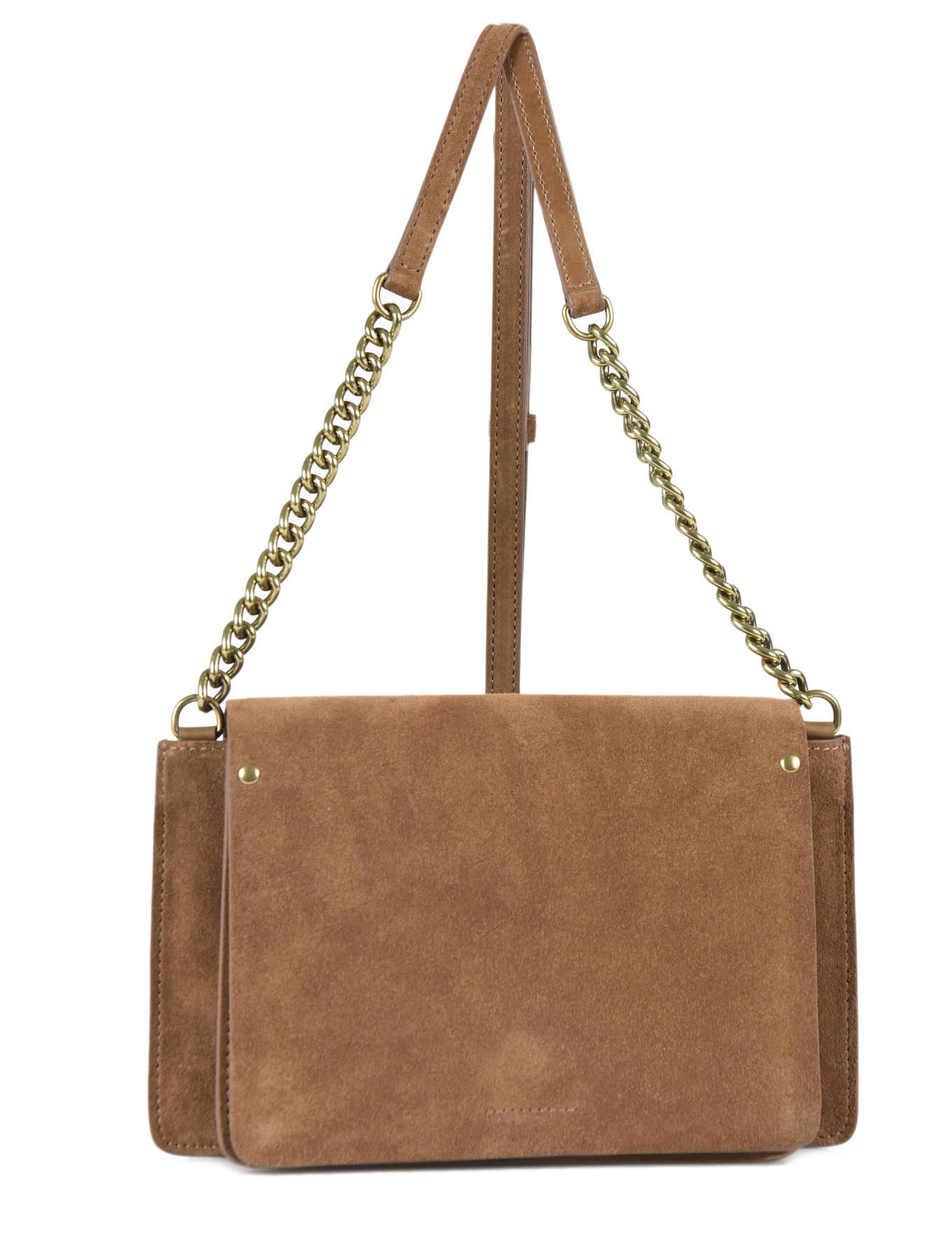 Crossbody Bag Folk Leather Gerard Darel Black Dhs20407