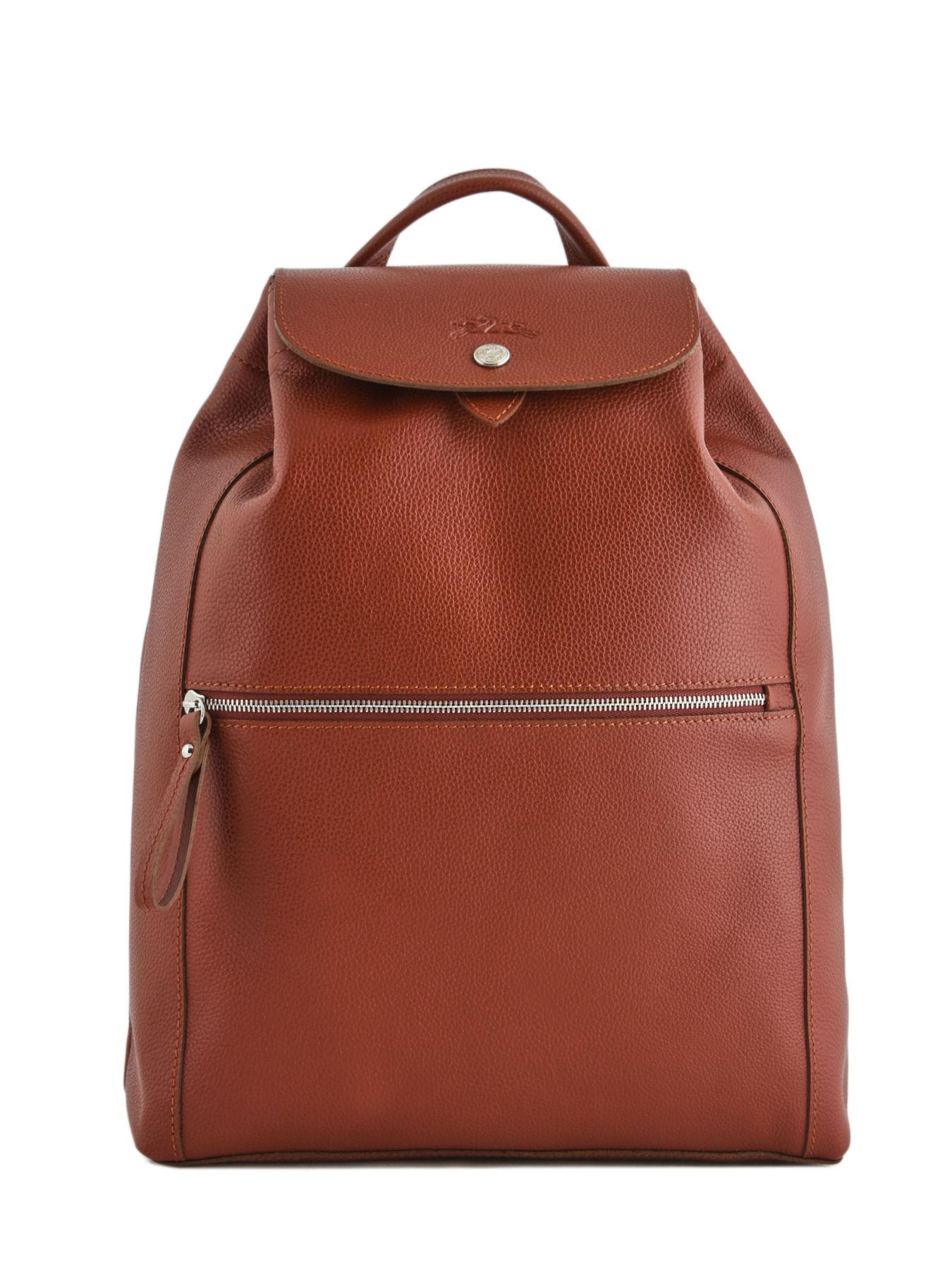 Leather backpack Le Foulonné LONGCHAMP