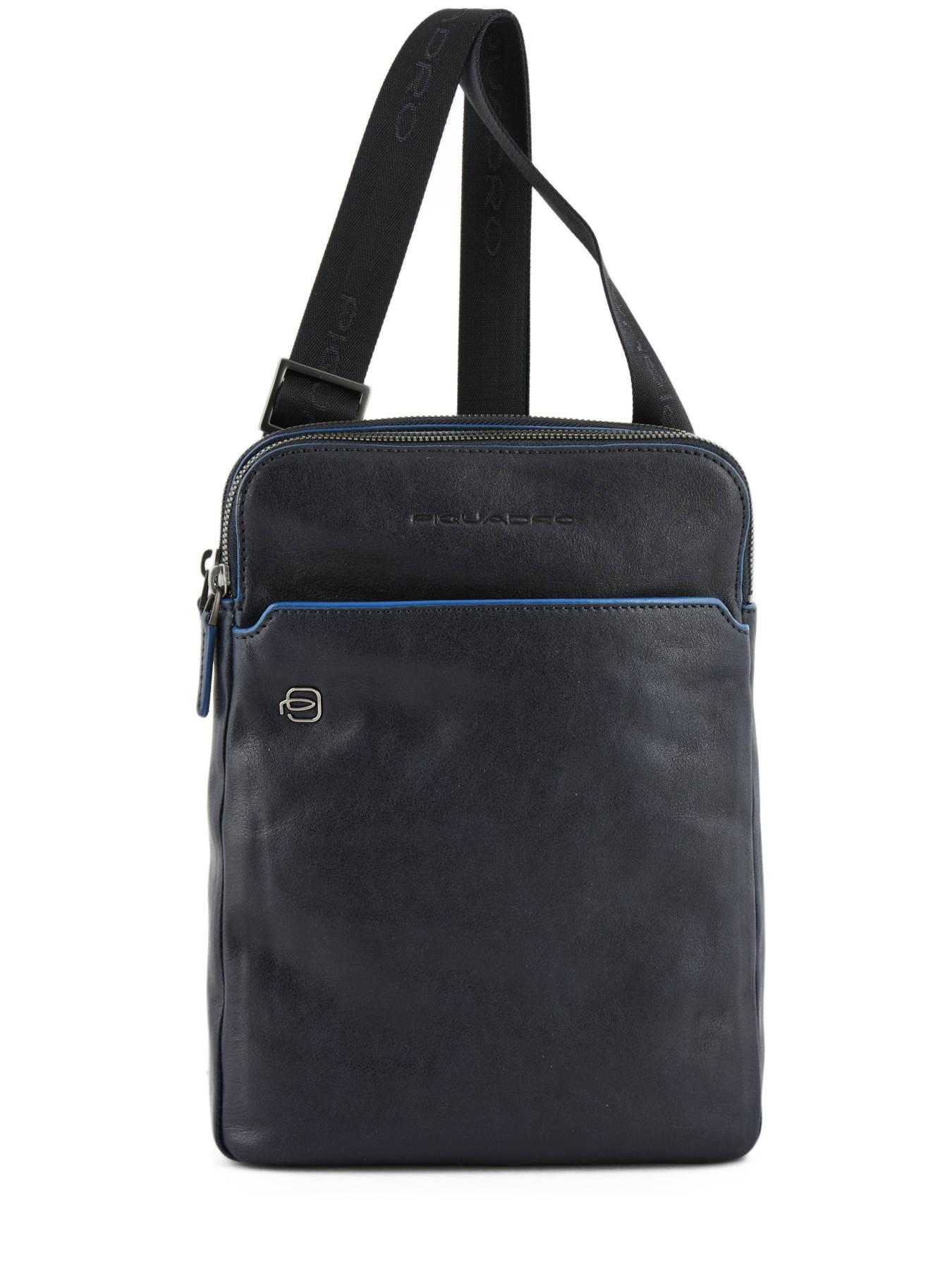 56af8fae379a Crossbody Bag Black Square Piquadro Blue black square CA3978B2 ...