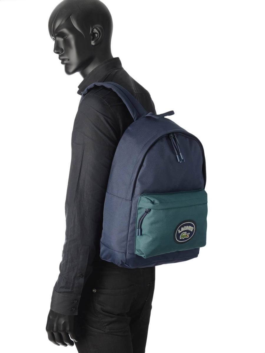 eb60b8290c2 ... Backpack Lacoste Black neo croc fantaisie NH2682NT other view 2 ...