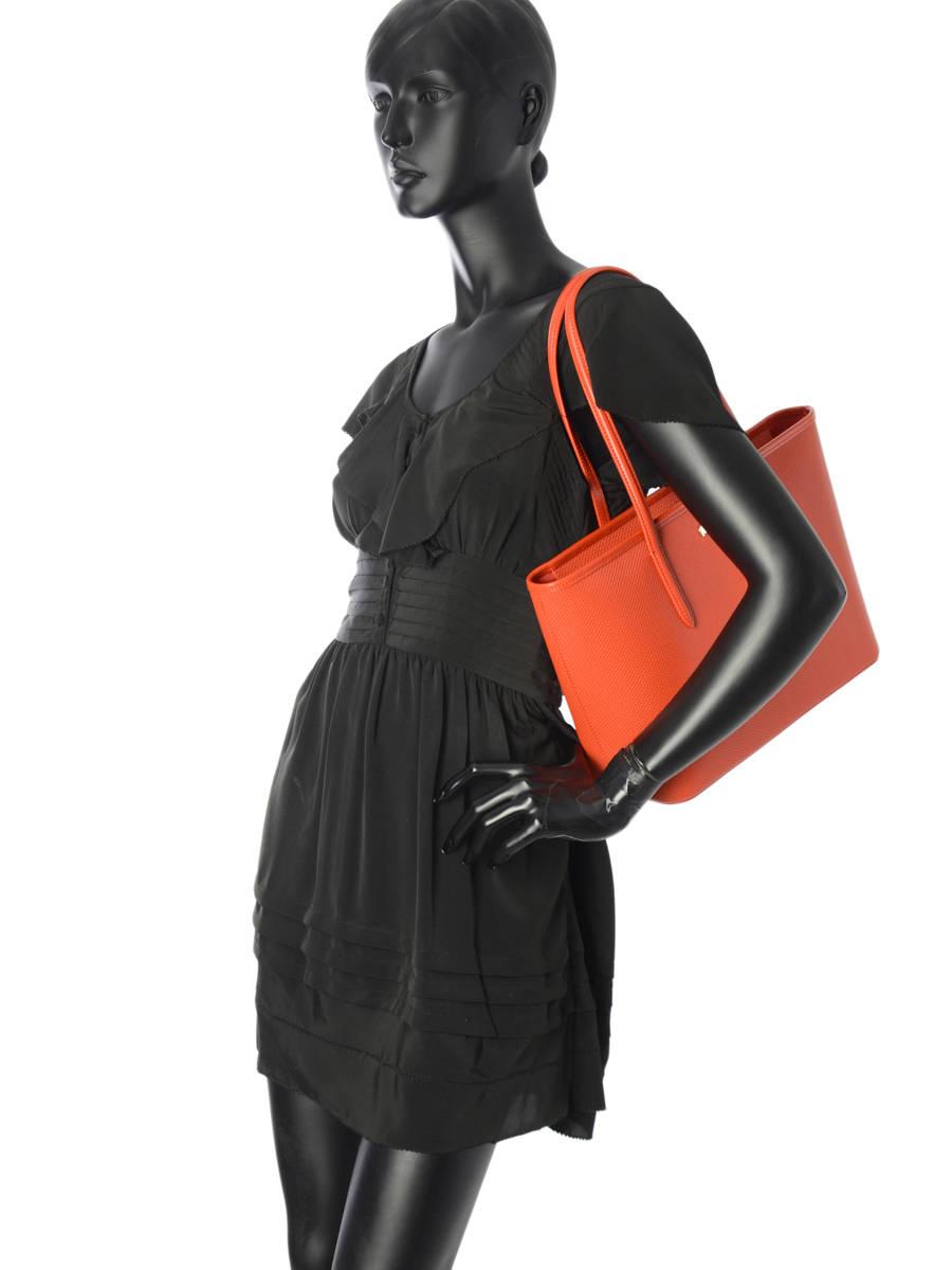 b8b1221113f ... Shoulder Bag Chantaco Leather Lacoste Orange chantaco NF2116CE other  view 2 ...