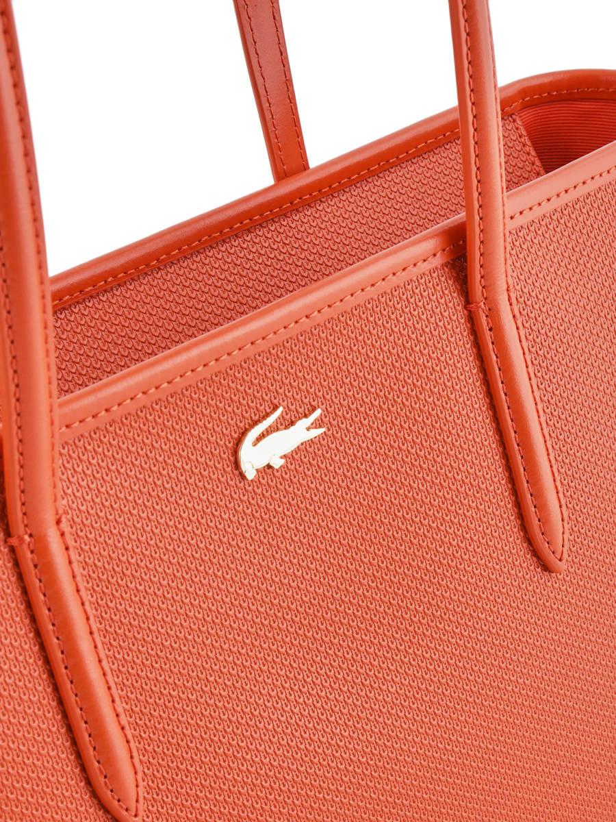 0da6e305ec6 ... Shoulder Bag Chantaco Leather Lacoste Orange chantaco NF2116CE other  view 1 ...