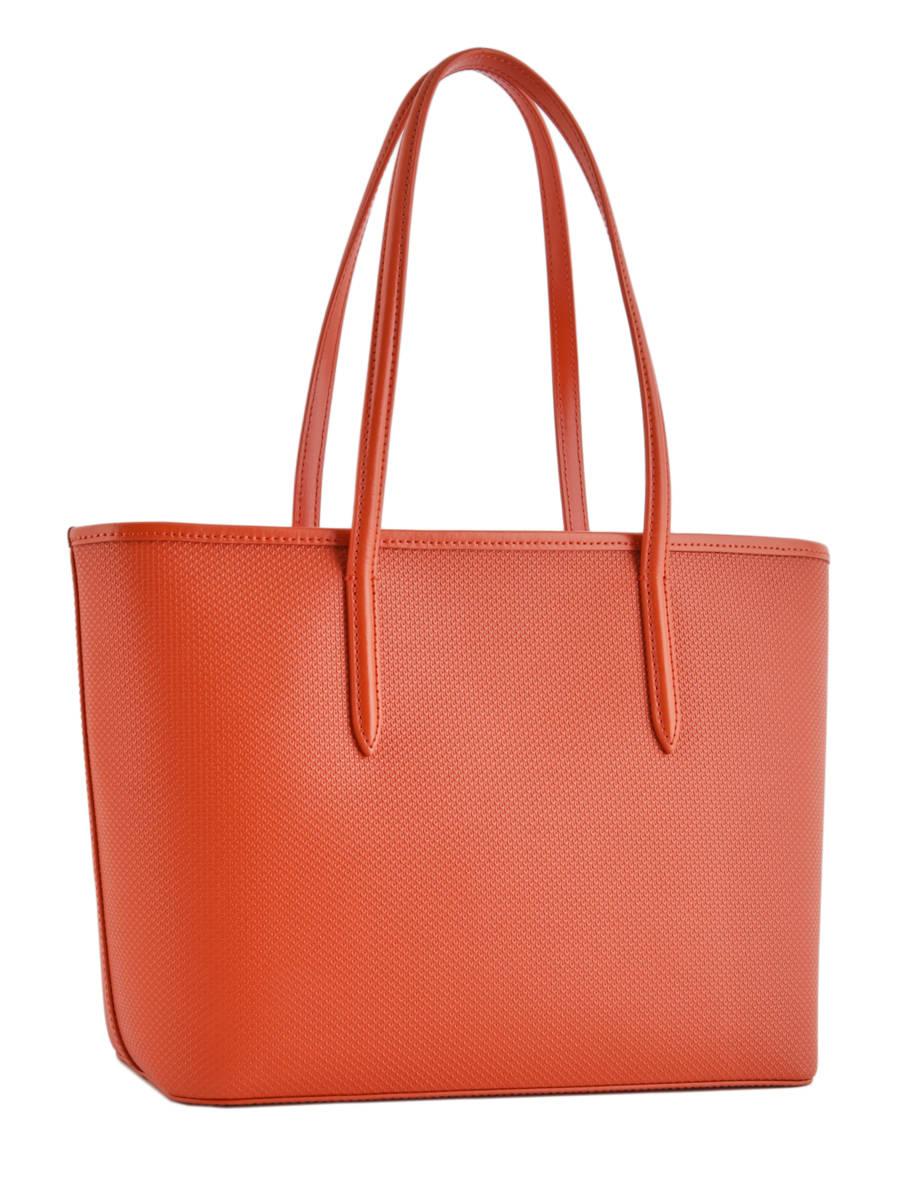 a88807a091e ... Shoulder Bag Chantaco Leather Lacoste Orange chantaco NF2116CE other  view 3 ...