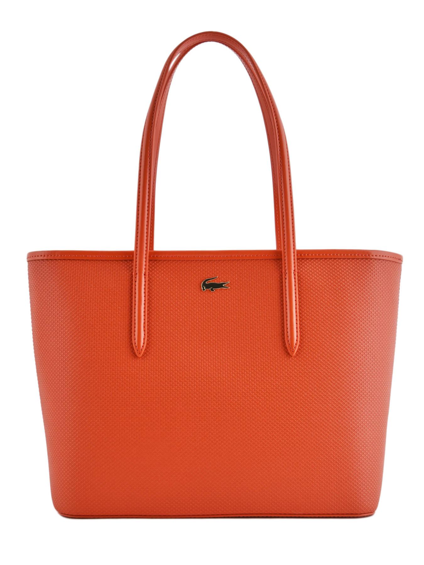 6cc402f6303 ... Shoulder Bag Chantaco Leather Lacoste Orange chantaco NF2116CE ...