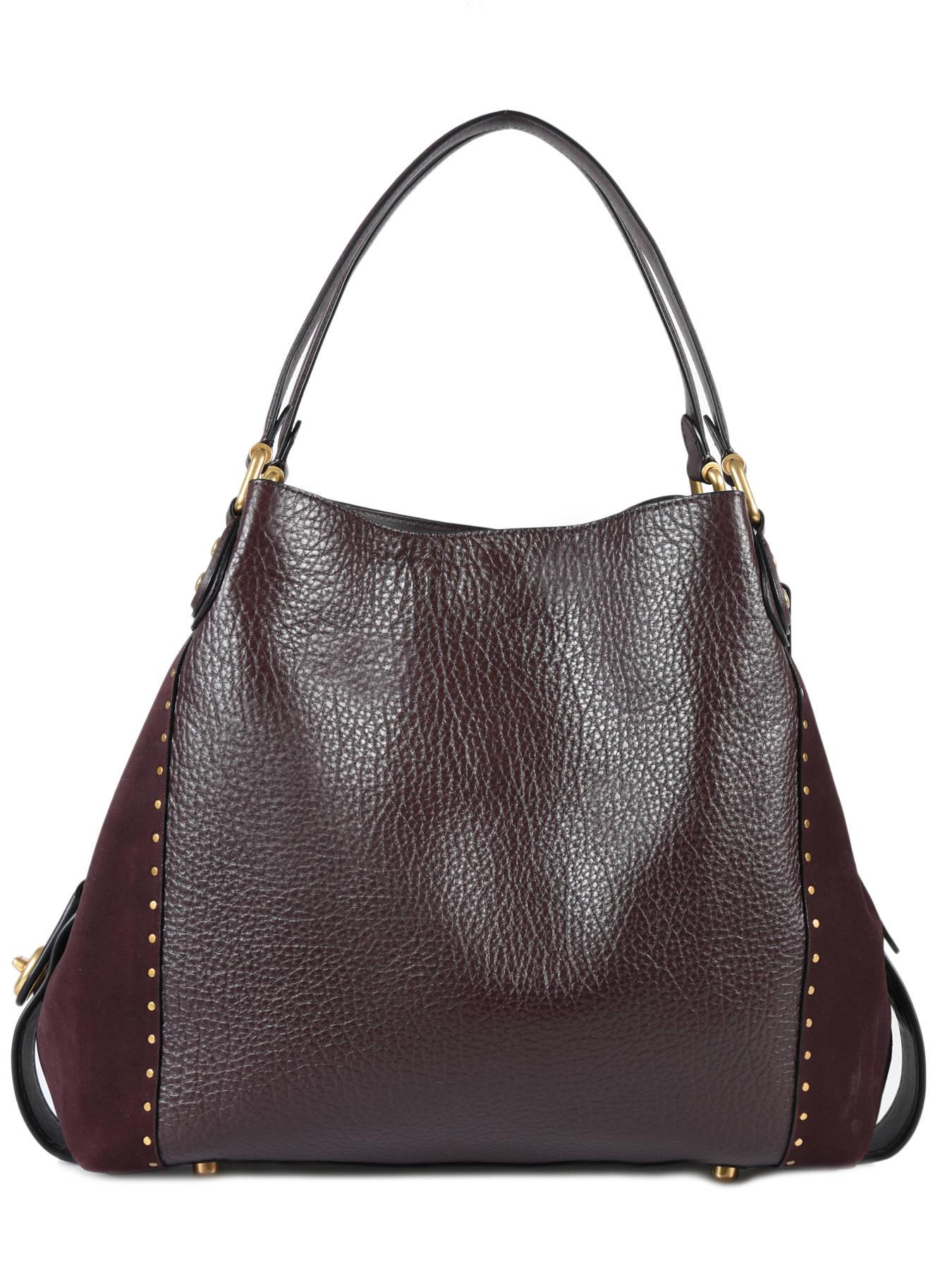 5a40ff5f8e ... Shopper Edie 31 Leather Coach Red edie 32988 ...