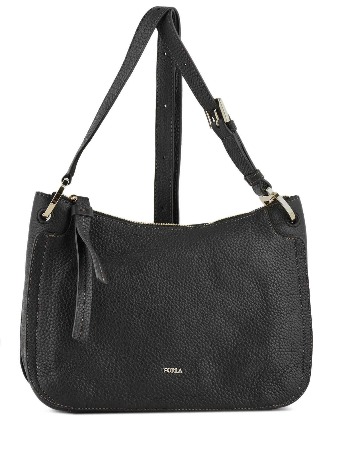 27798830b729b ... Shoulder Bag Rialto Leather Furla Black rialto RIA-BQV9 ...