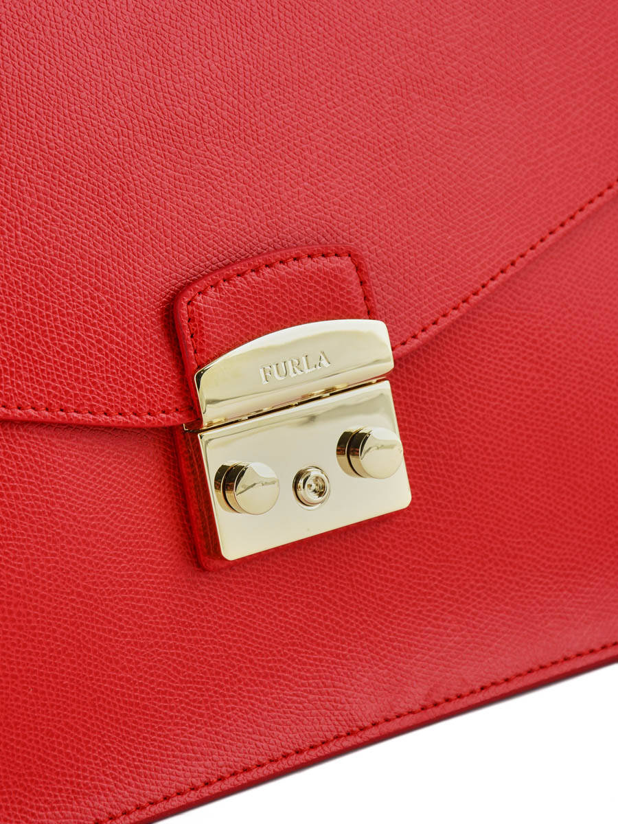 87486dcf91af ... Top Handle Metropolis Leather Furla Red metropolis EPO-BOO9 other view  1 ...