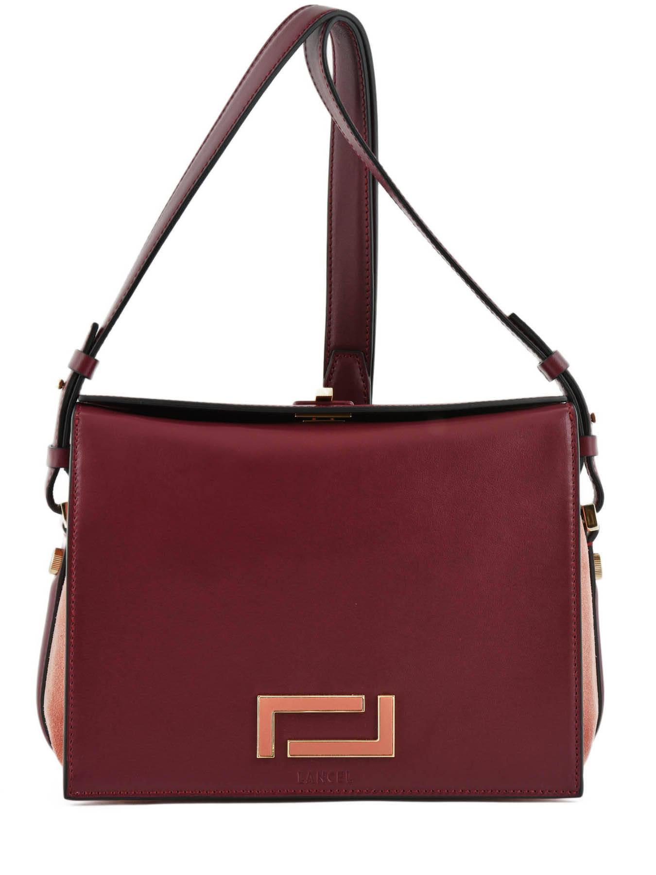 Crossbody Bag L Pia Leather Lancel Violet A09607