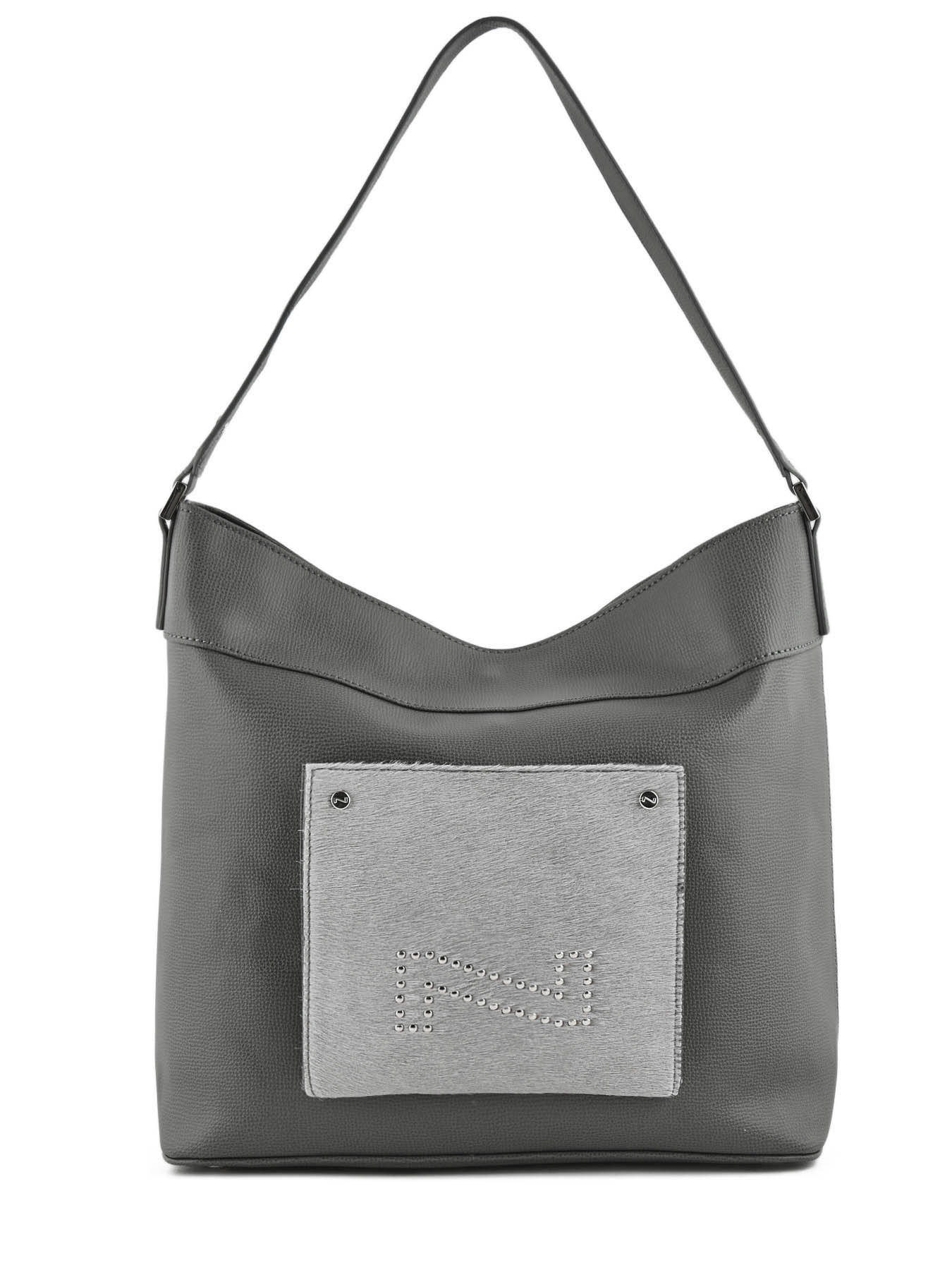 7630728e61 ... other view 4  Shoulder Bag Opale Leather Nathan baume Gray pixel  N1820715 ...