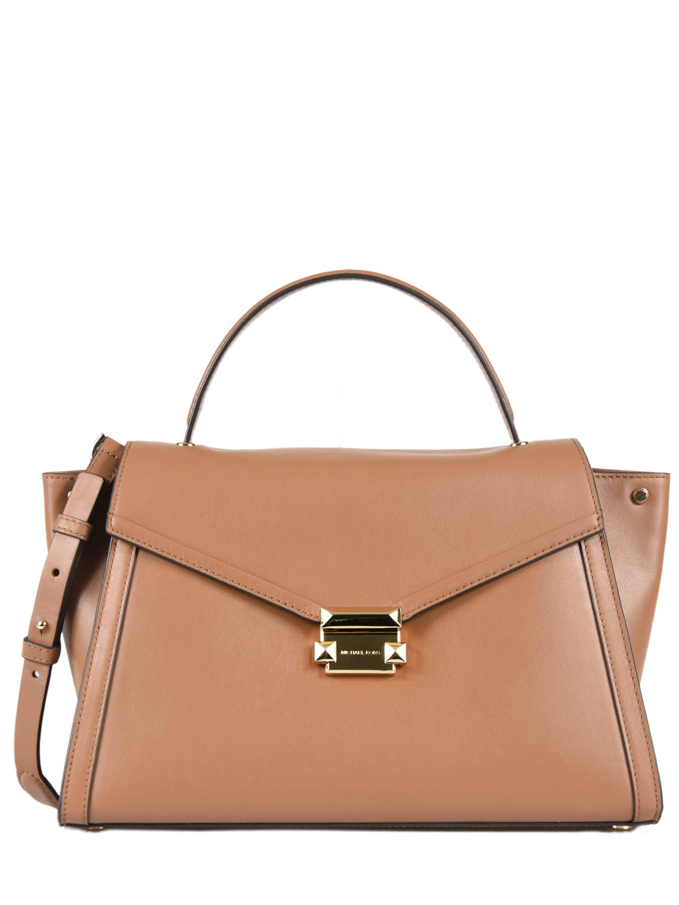 8ab62f9991d55d Large Leather Whitney Satchel Michael kors Brown m group T8GXIS3L ...