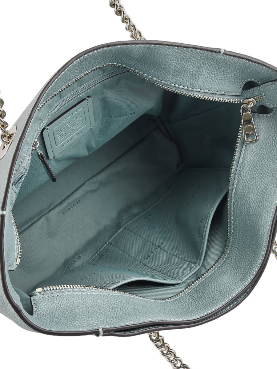 13f88d4687 Shoulder Bag Turnlock Chain Tote Coach Green chain - 00057107 other view 5  ...