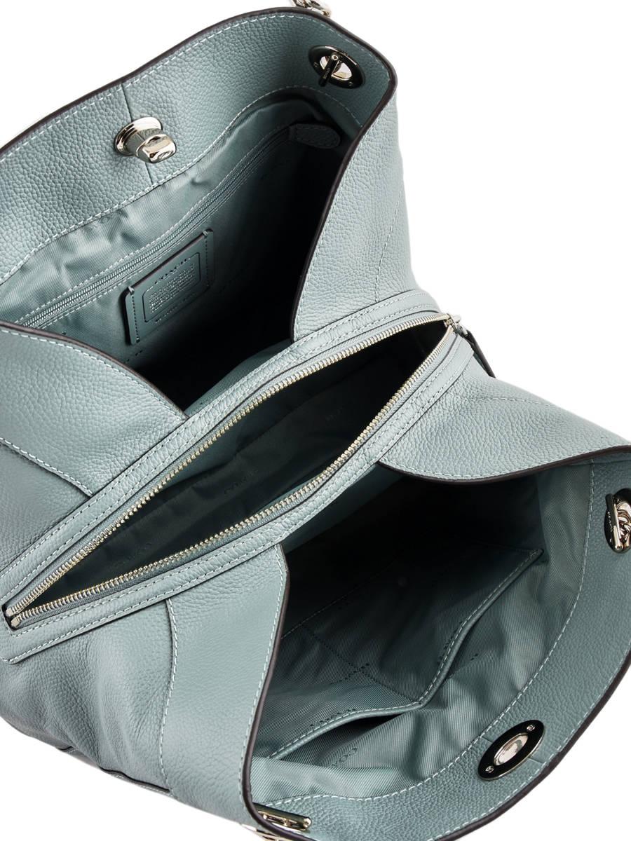 Shopper Edie Leather Coach Green edie 36855 other view 5 ... ec5cae523b894