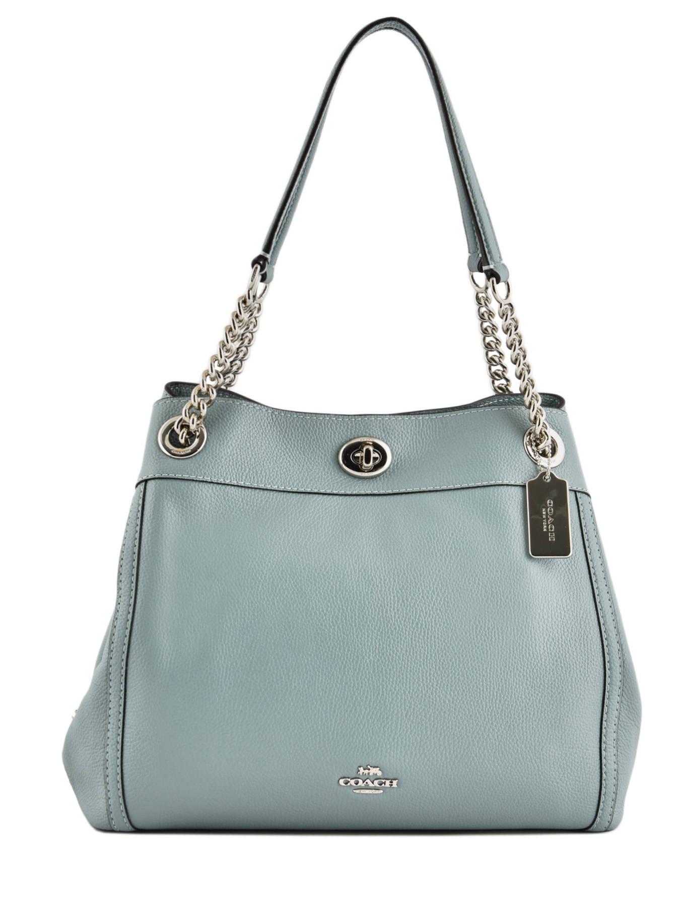... Shopper Edie Leather Coach Green edie 36855 ... 19d414febf5f5