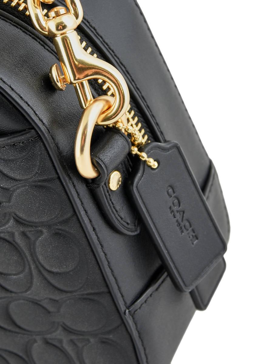 ... Shoulder Bag Camera Bag Leather Coach Black camera bag 39184 other view  2 ... c9a6cf18429a1