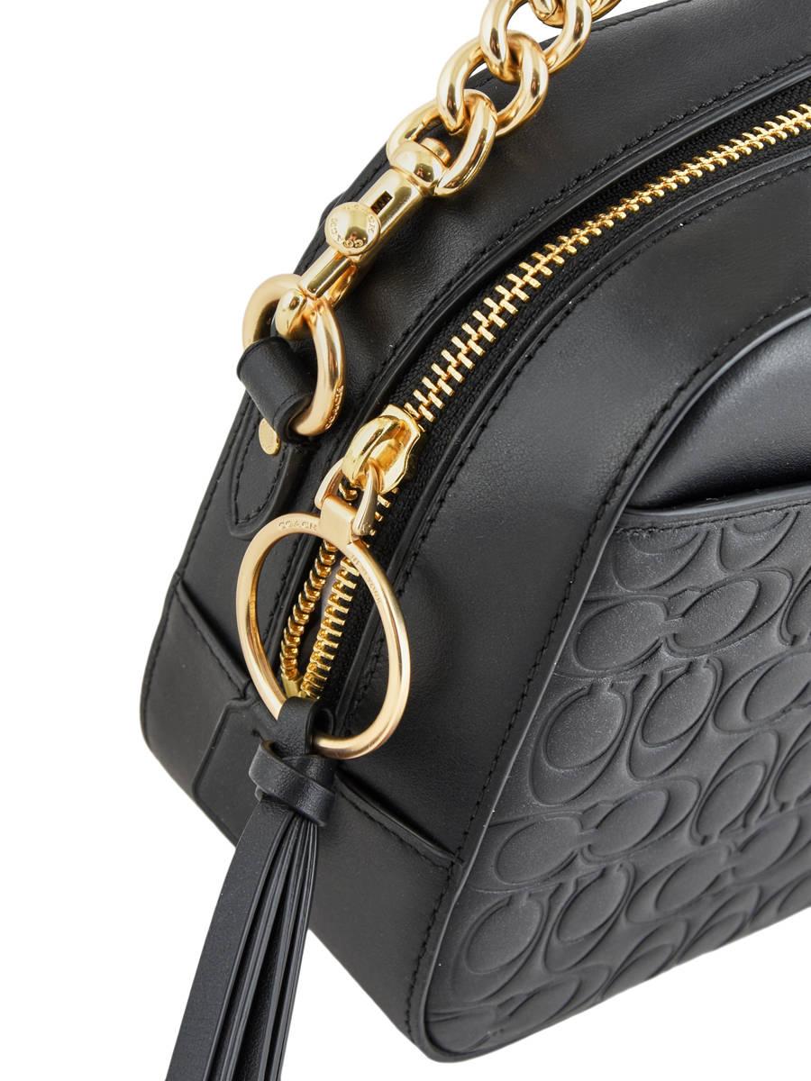 ... Shoulder Bag Camera Bag Leather Coach Black camera bag 39184 other view  1 ... 1b60b4316518e