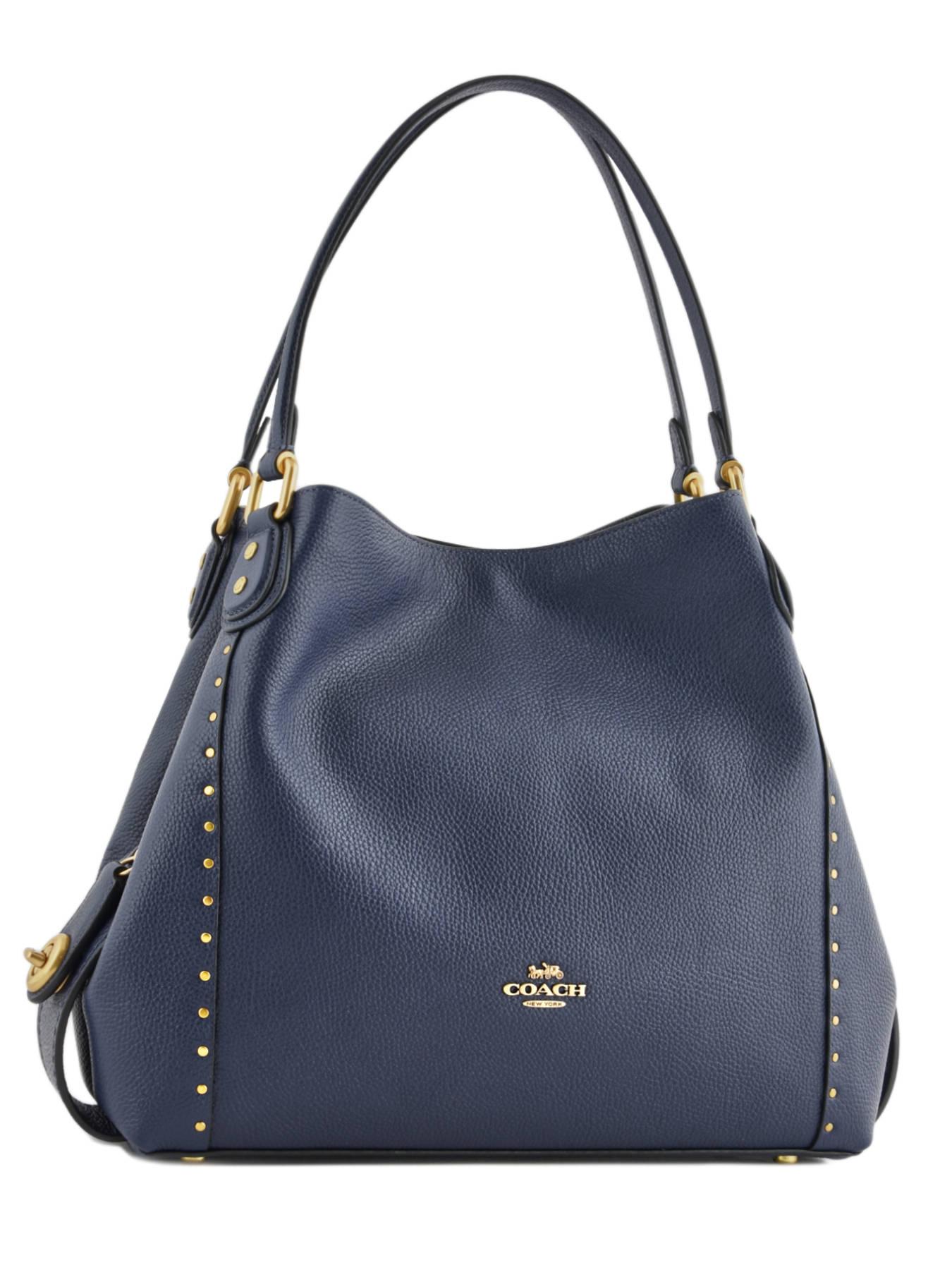 ... Edie 31 Leather Shoulder Bag Coach Blue edie 38720 ... 8df7da96d078b