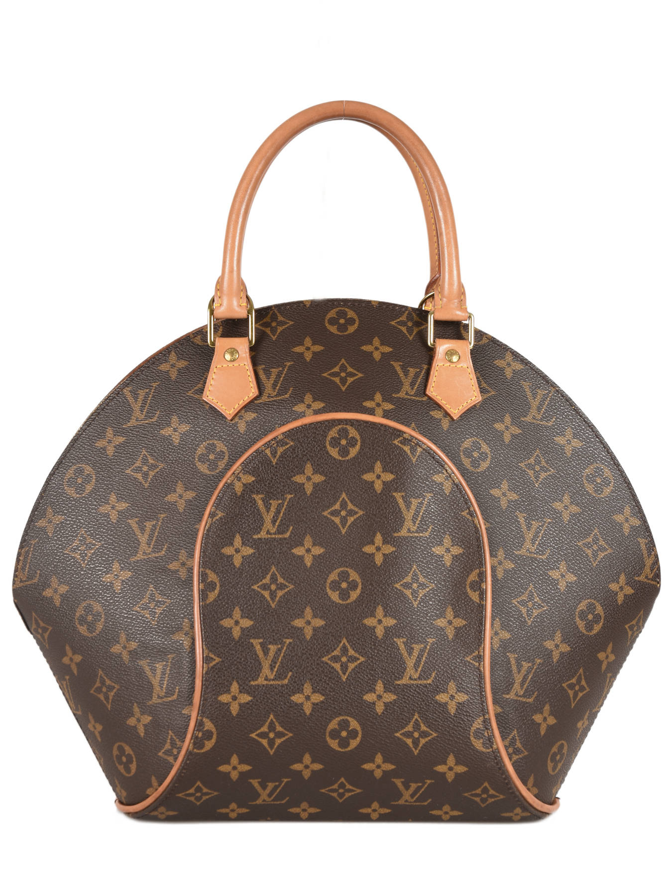 60e6014bf2a6 ... Preloved Louis Vuitton Handbag Ellipse Monogram Brand connection Brown louis  vuitton 60 ...