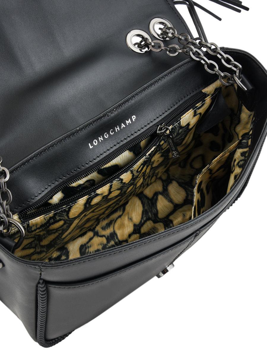 949fa85d3598 Longchamp Amazone rock Hobo bag Black ...