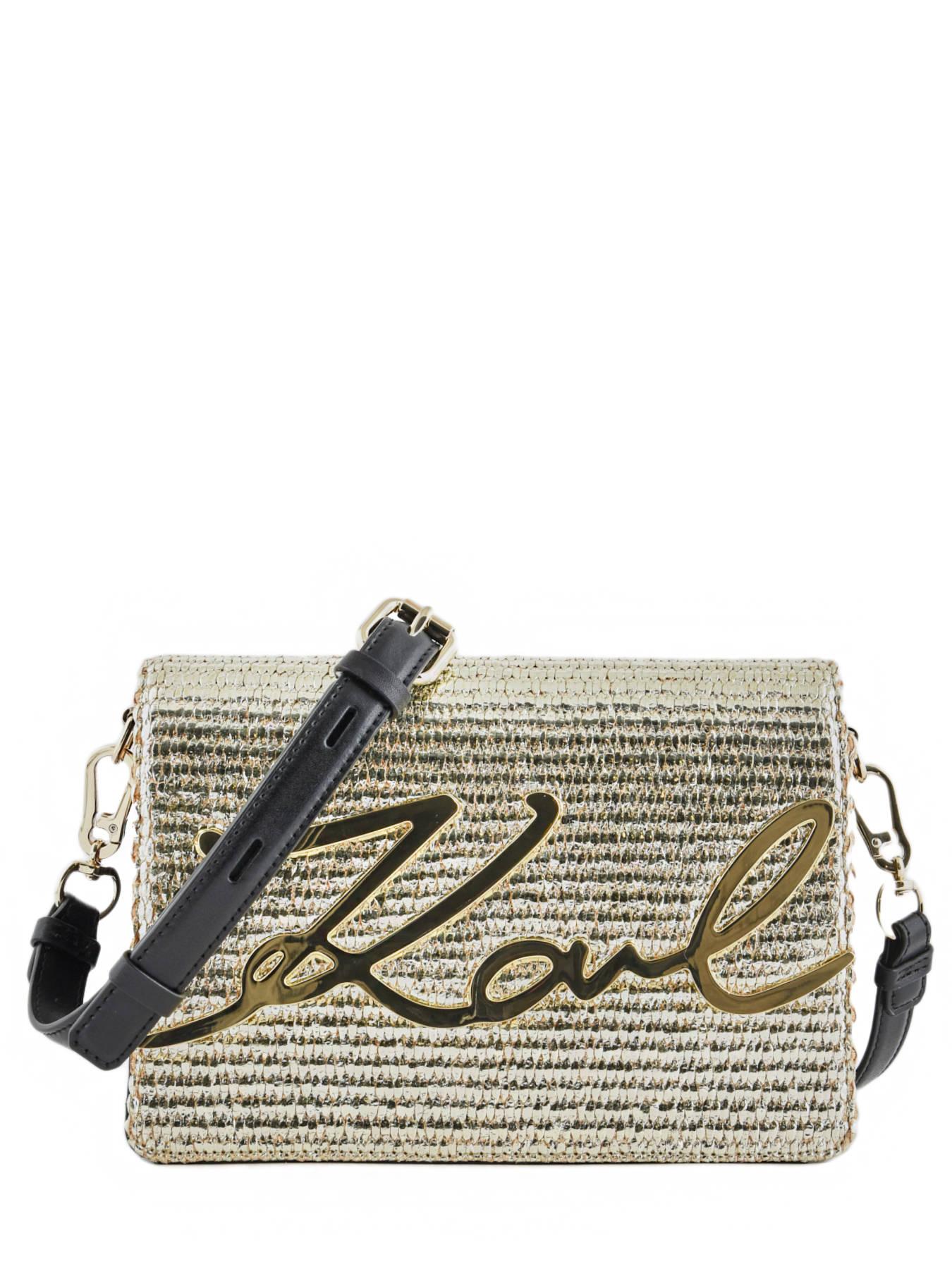 ... Shoulder Bag Signature Raffia Karl lagerfeld Gold signature raffia  91KW3068 ... 520d68d5589ea