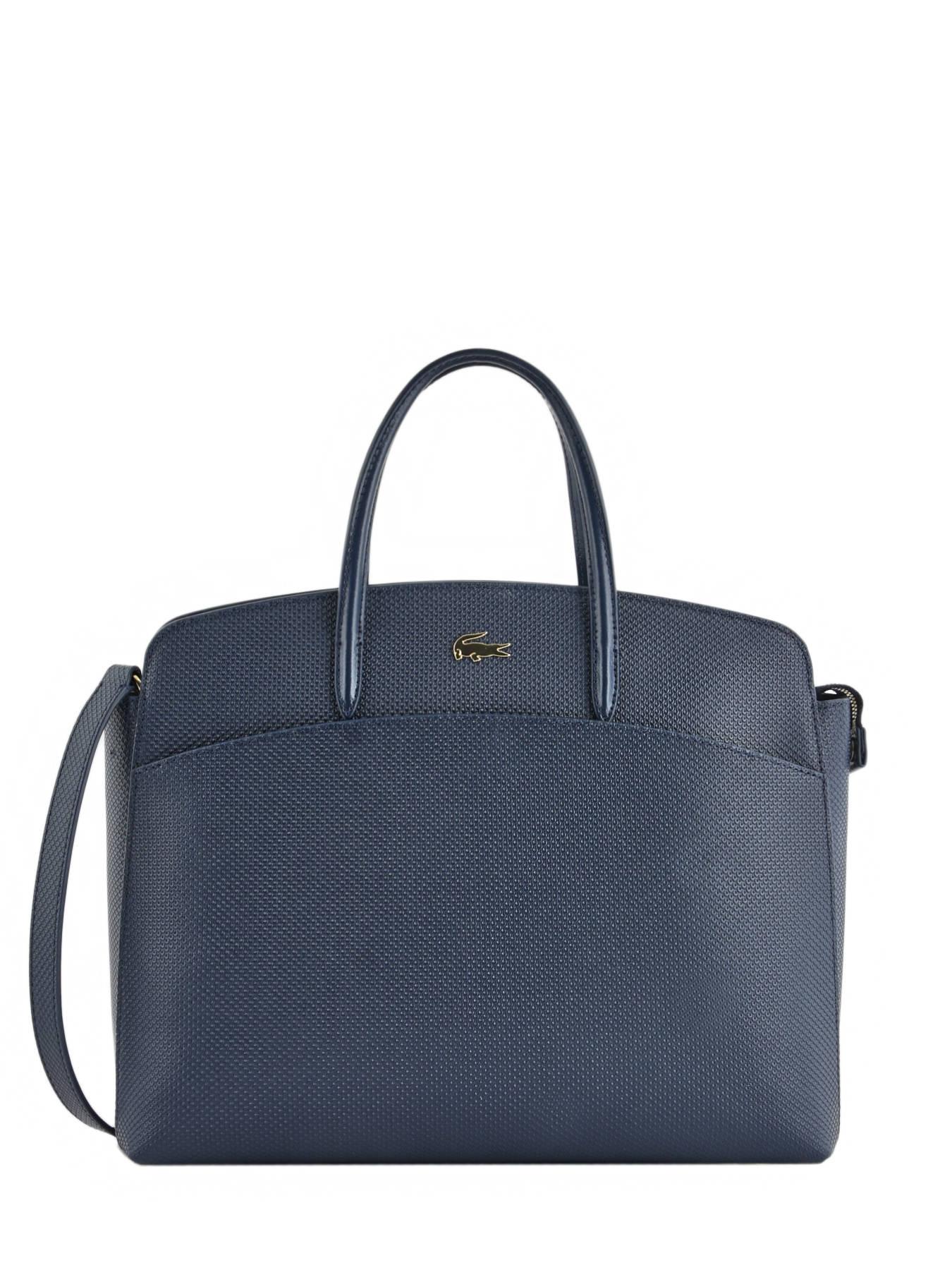 c5f7af75ad ... Top Handle Chantaco Leather Lacoste Blue chantaco NF2736CE ...