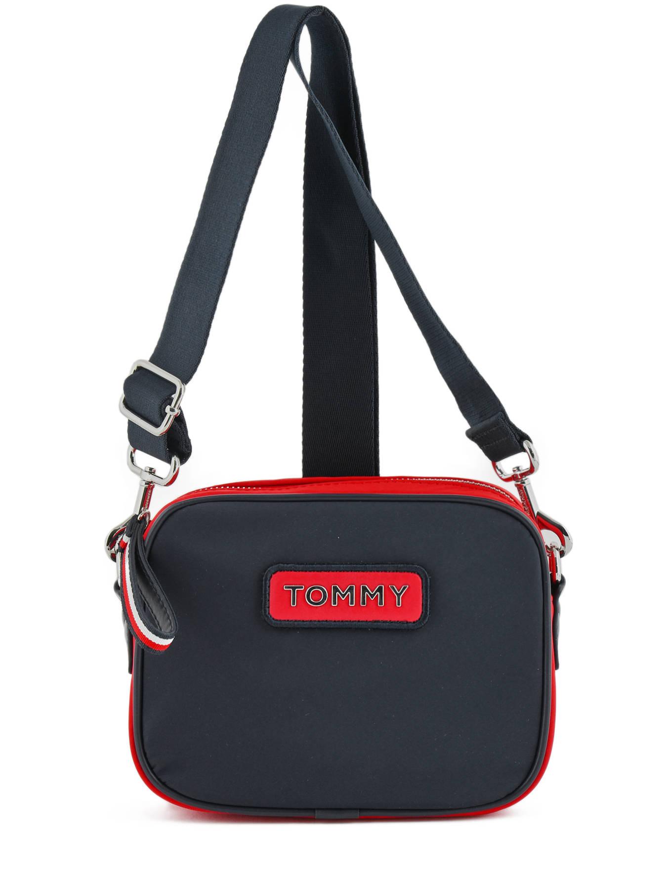 33efec396c8 ... Varsity Nylon Crossbody Bag Tommy hilfiger Black varsity nylon AW06296  ...