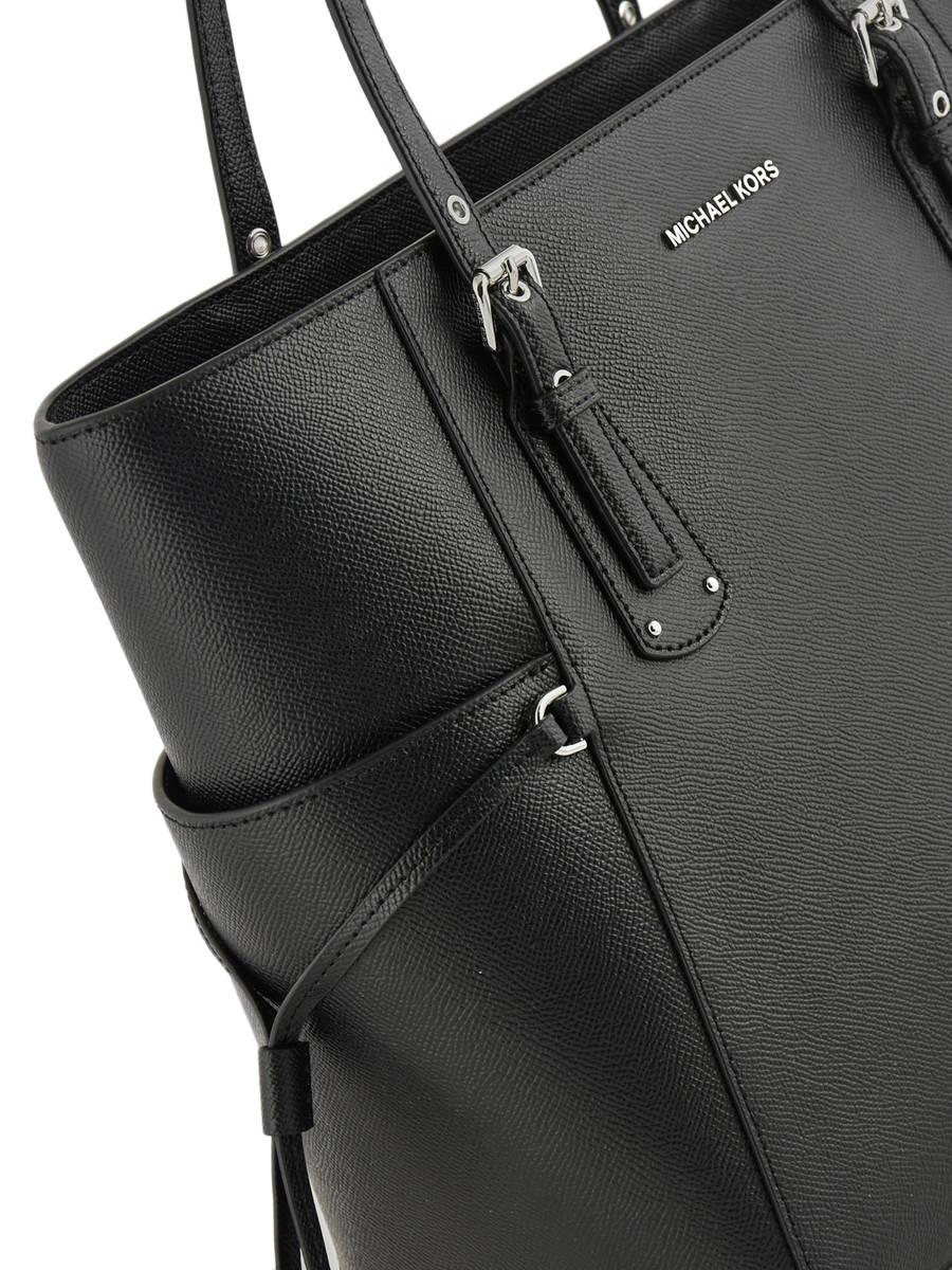 8435fd3d0709 ... Shoulder Bag Voyager Leather Michael kors Black voyager F8SV6T4L other  view 1 ...