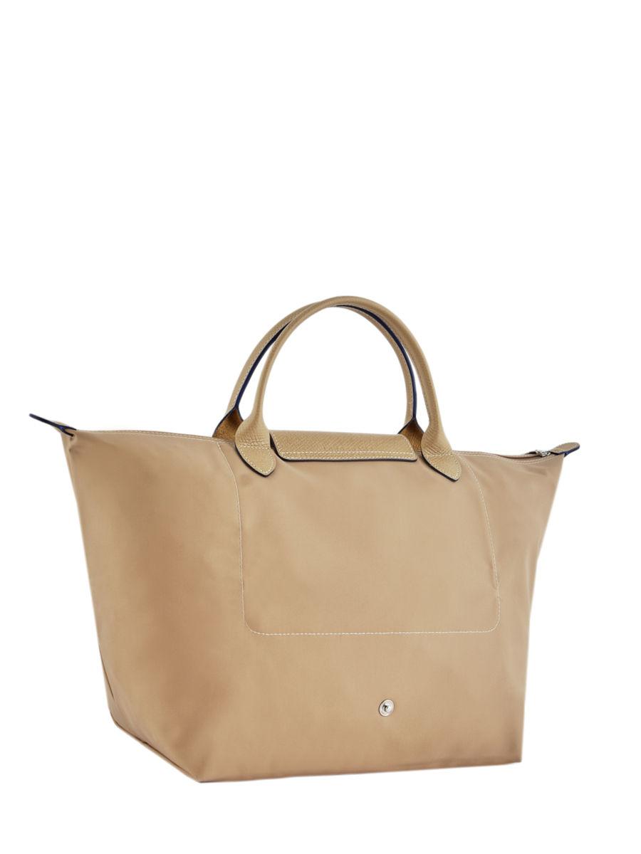 74d2e22ca9 ... Longchamp Le pliage club Handbag Beige ...