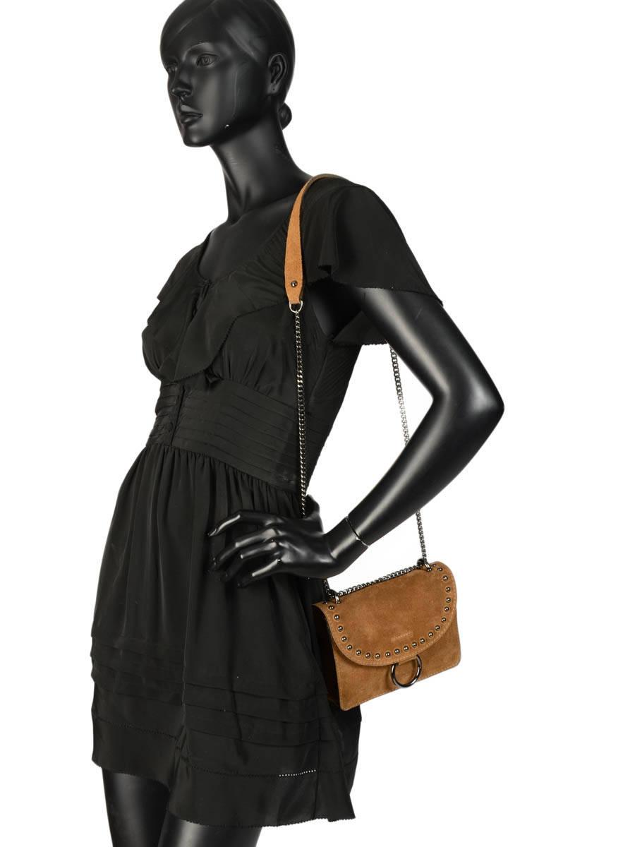06e793d60882 ... Crossbody Bag Velvet Leather Milano Brown velvet VC17111 other view 1  ...