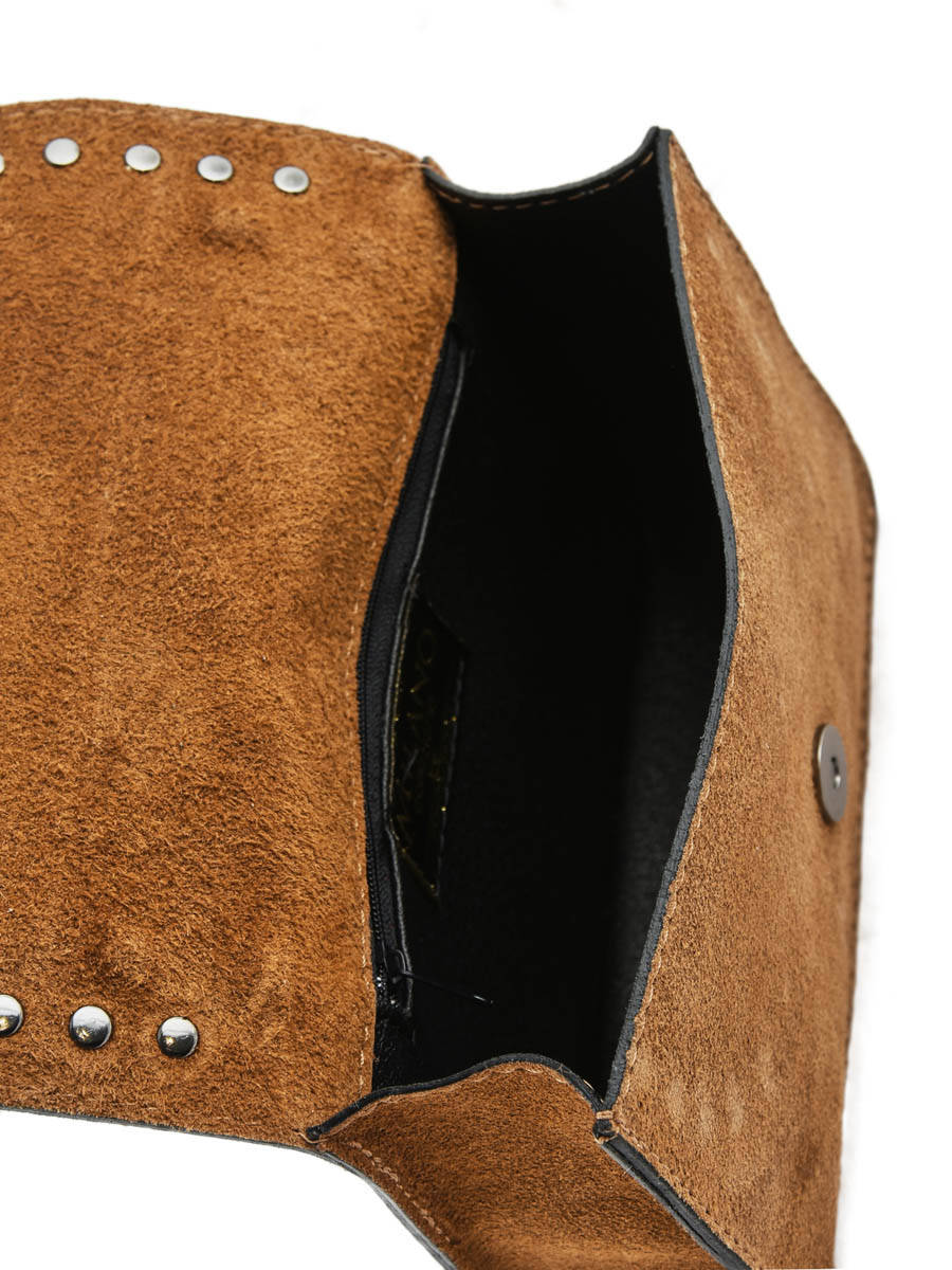 77dc6b03c03a Crossbody Bag Velvet Leather Milano Brown velvet VC17111 other view 3 ...