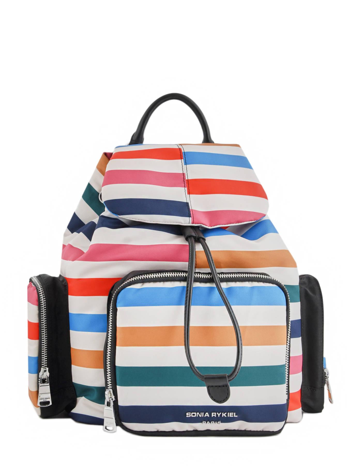 8d58673ee02 ... Large Backpack Forever Nylon Sonia rykiel Multicolor forever nylon  2283-38 ...