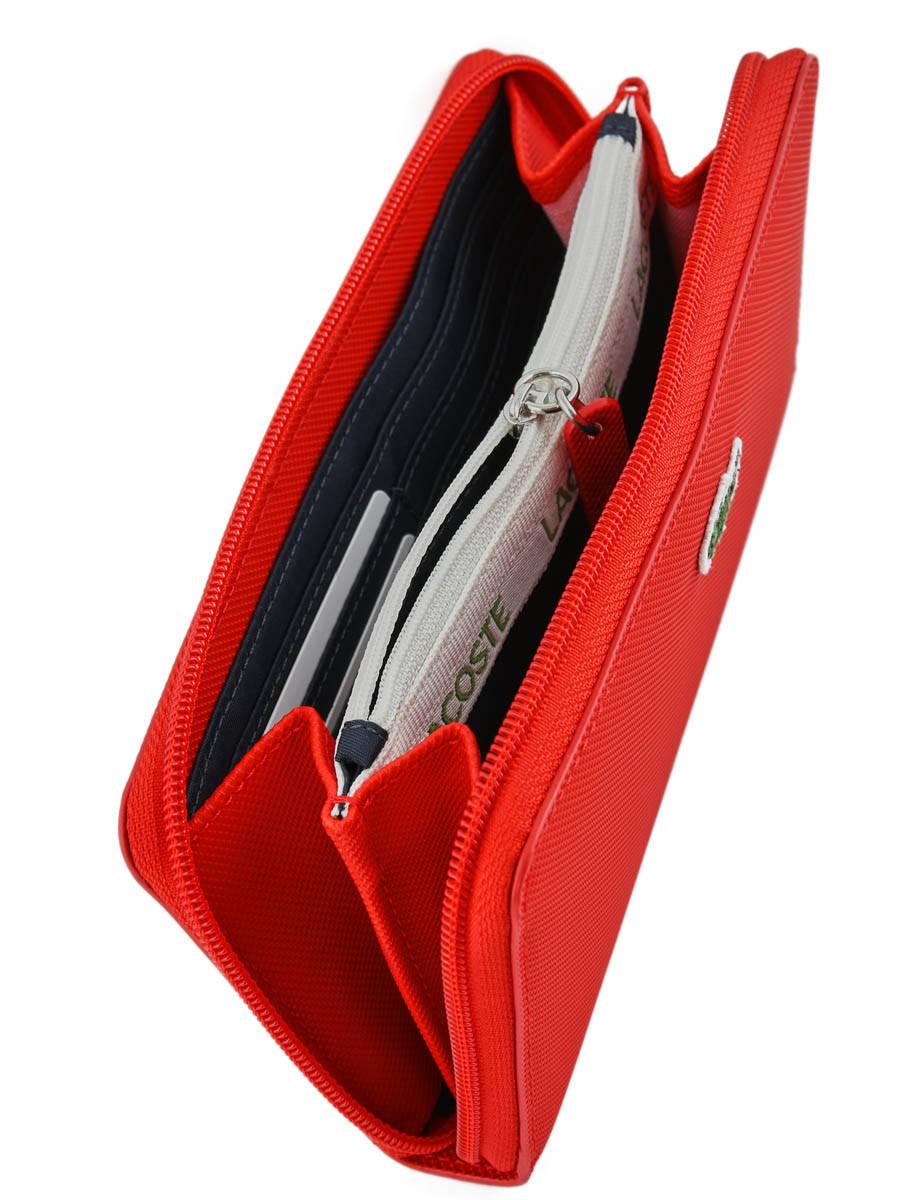 Portefeuille Lacoste NF.2900.PO high risk red en vente au meilleur prix cb3487562a8