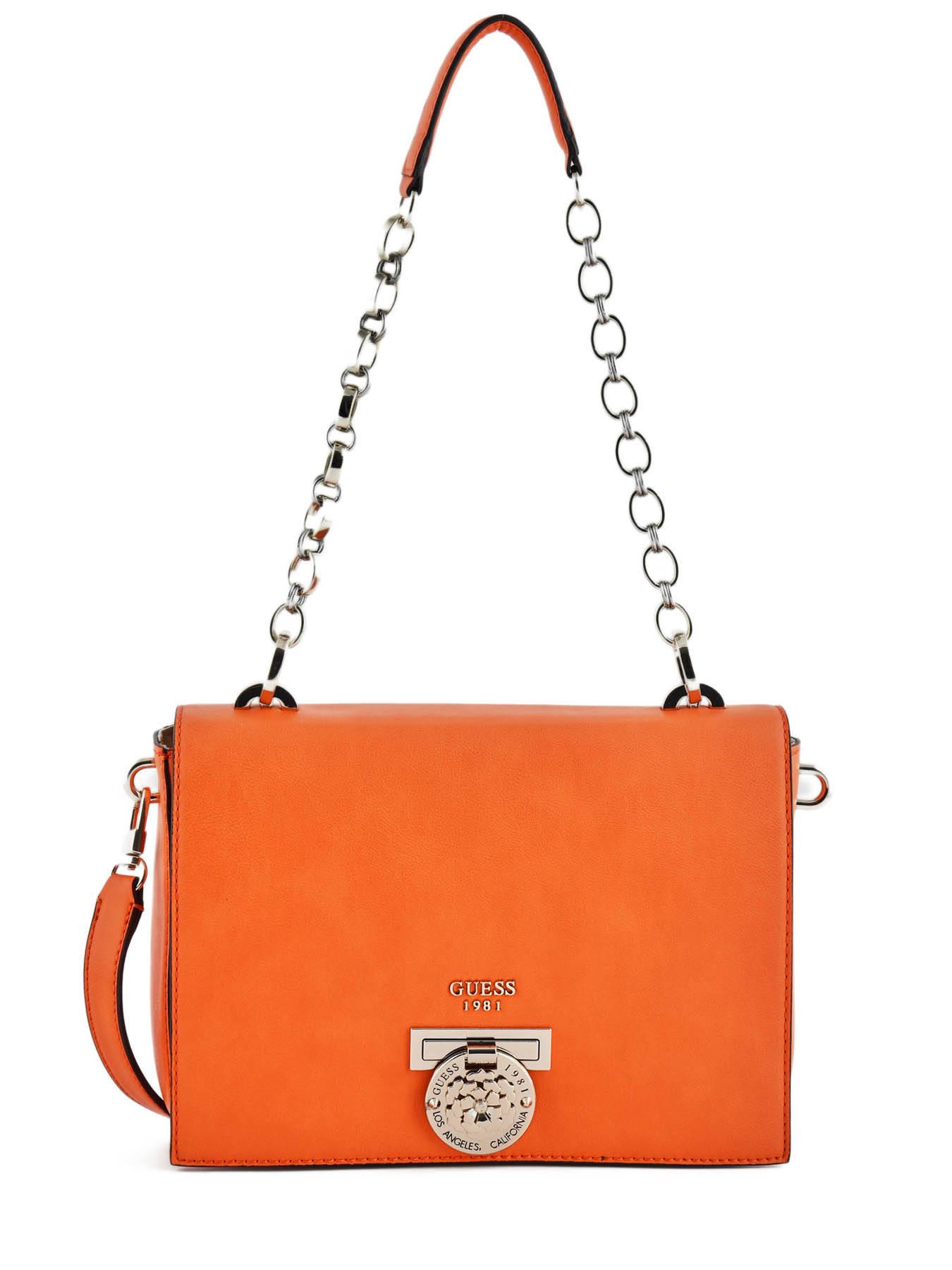 7d44c465003 Sac porté épaule Guess HWVG.7177200 orange en vente au meilleur prix