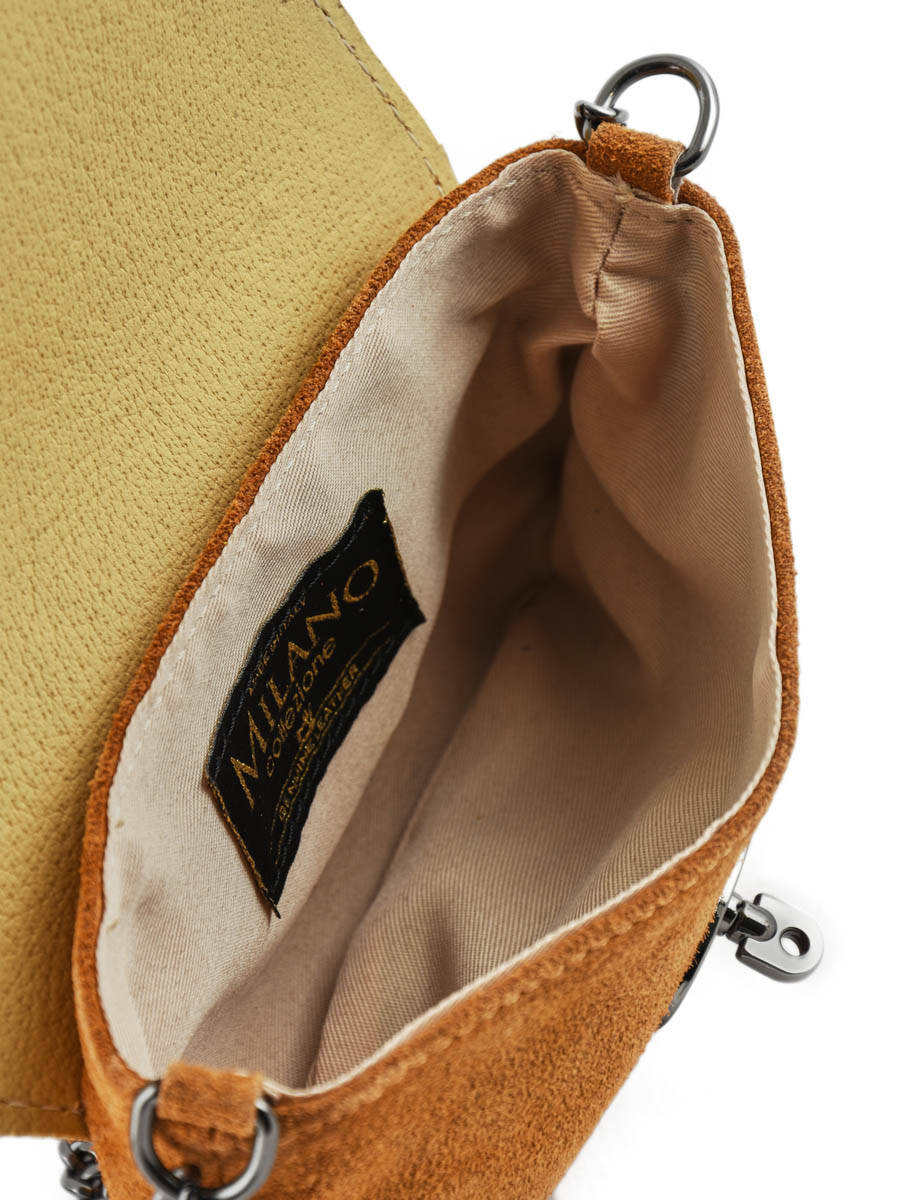 93733bcd0185 Crossbody Bag Velvet Leather Milano Brown velvet VE700 other view 4 ...